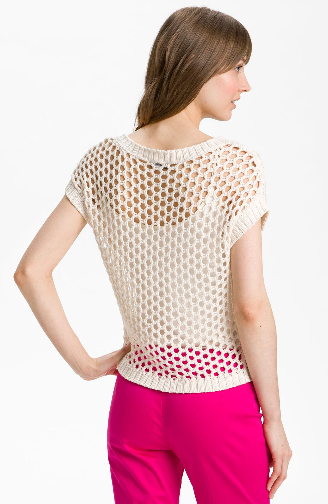 Alternate Image 2  - Vince Camuto Open Mesh Stitch Sweater
