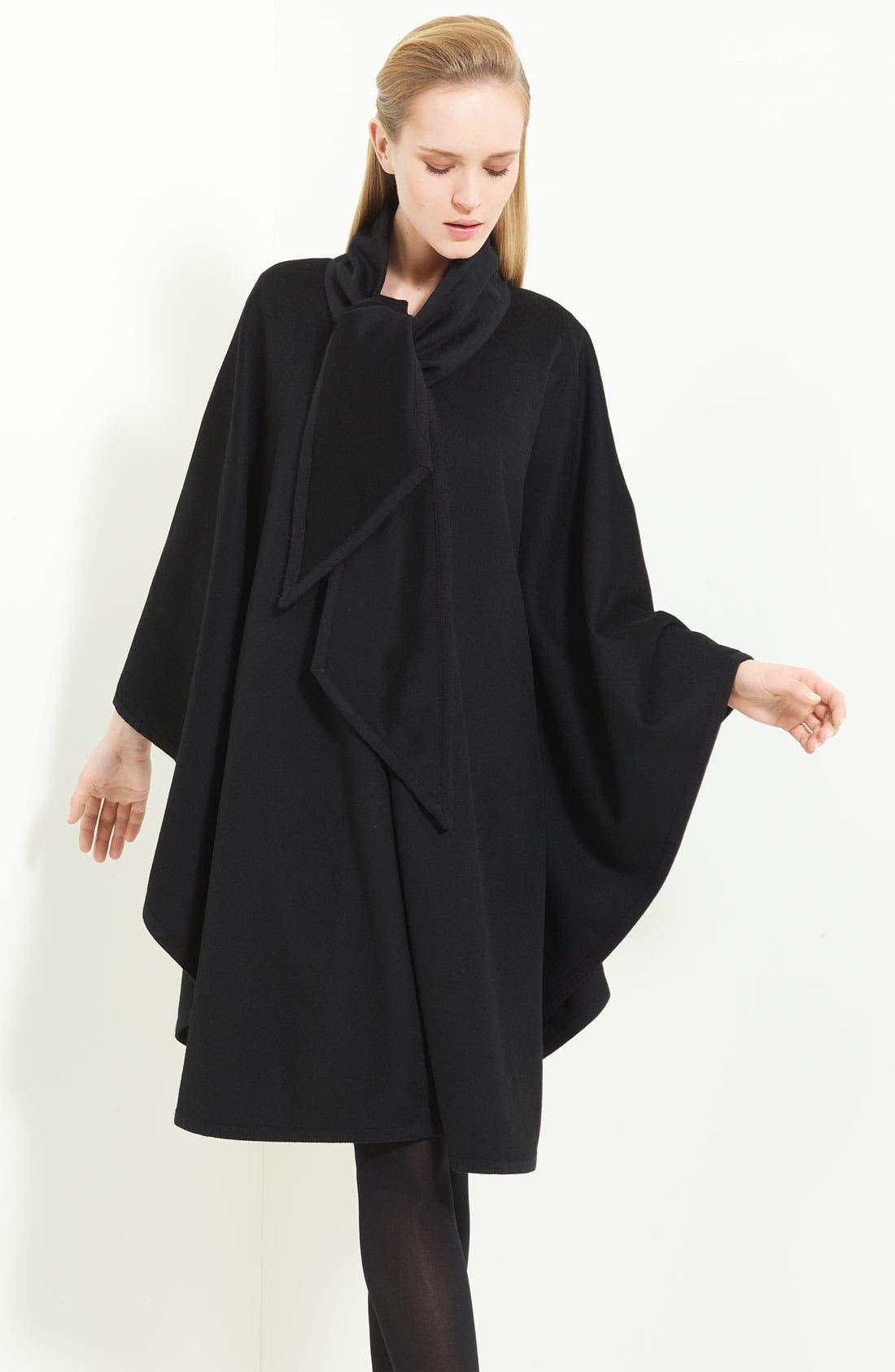Main Image - Armani Collezioni Tie Neck Wool Cape