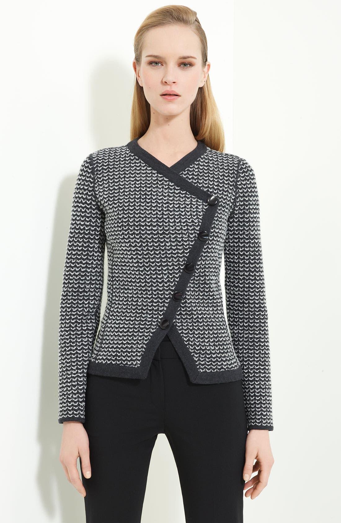 Main Image - Armani Collezioni Zigzag Asymmetrical Sweater