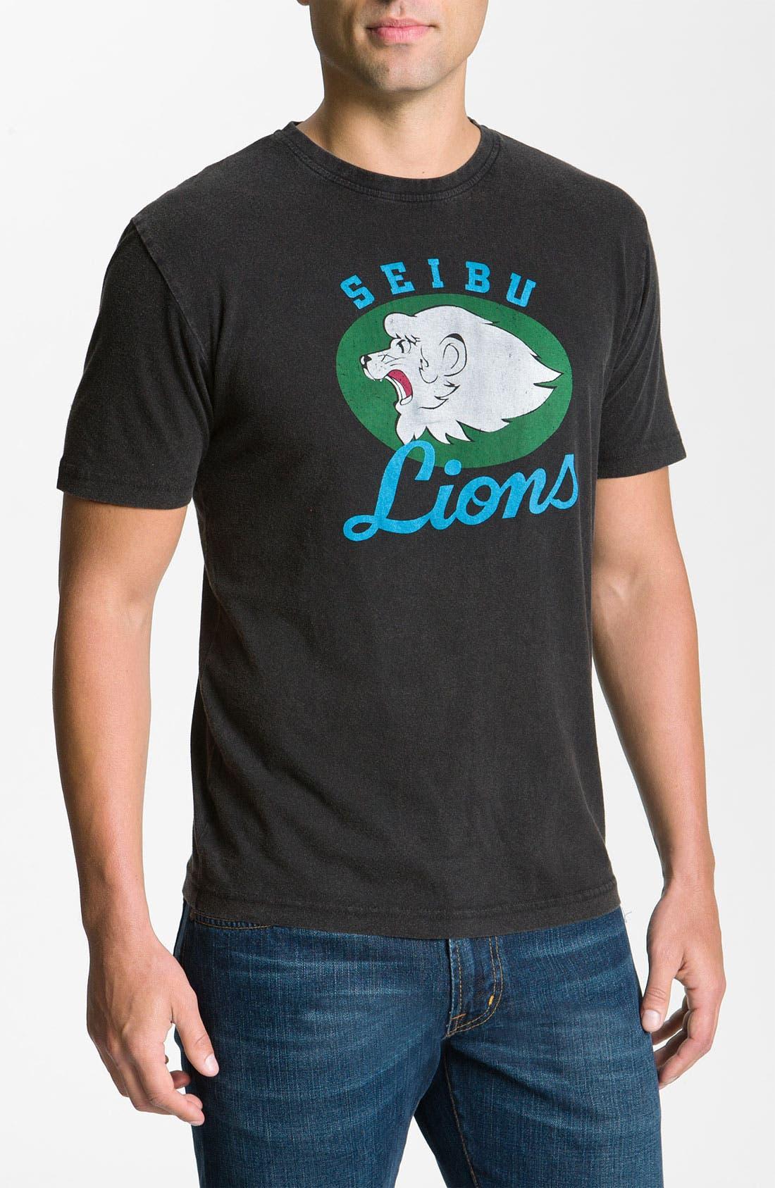 Alternate Image 1 Selected - Red Jacket 'Saitama Seibu Lions' Regular Fit Crewneck T-Shirt (Men)