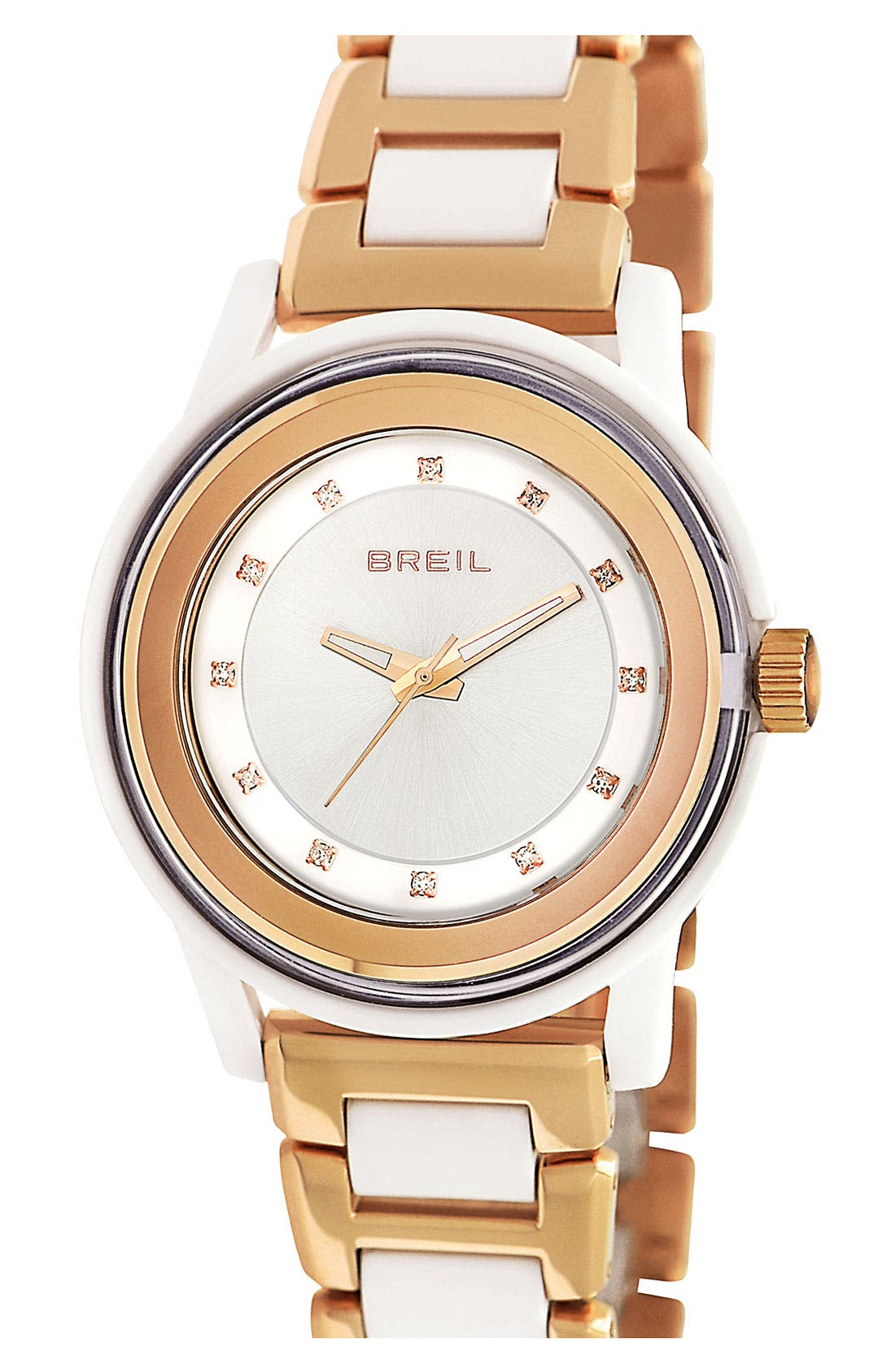 Alternate Image 1 Selected - Breil 'Orchestra' Crystal Index Bracelet Watch