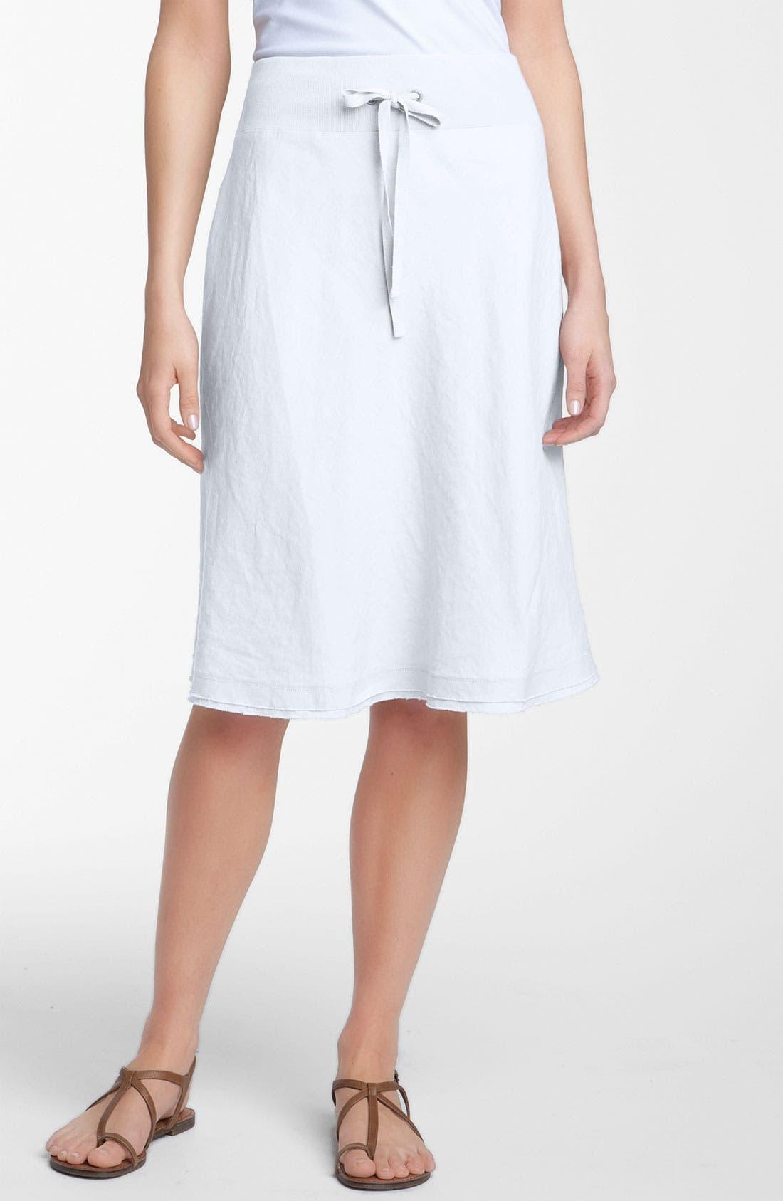 Main Image - Eileen Fisher Drawstring Linen Skirt