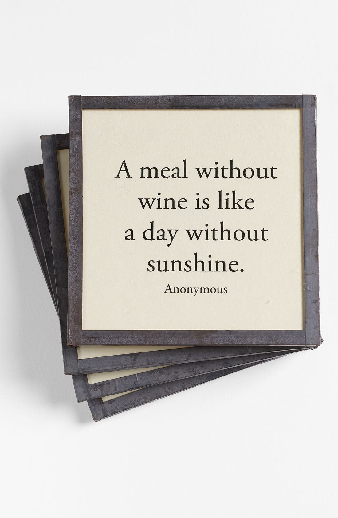 Alternate Image 1 Selected - Ben's Garden 'A Meal without Wine' Coasters (Set of 4)