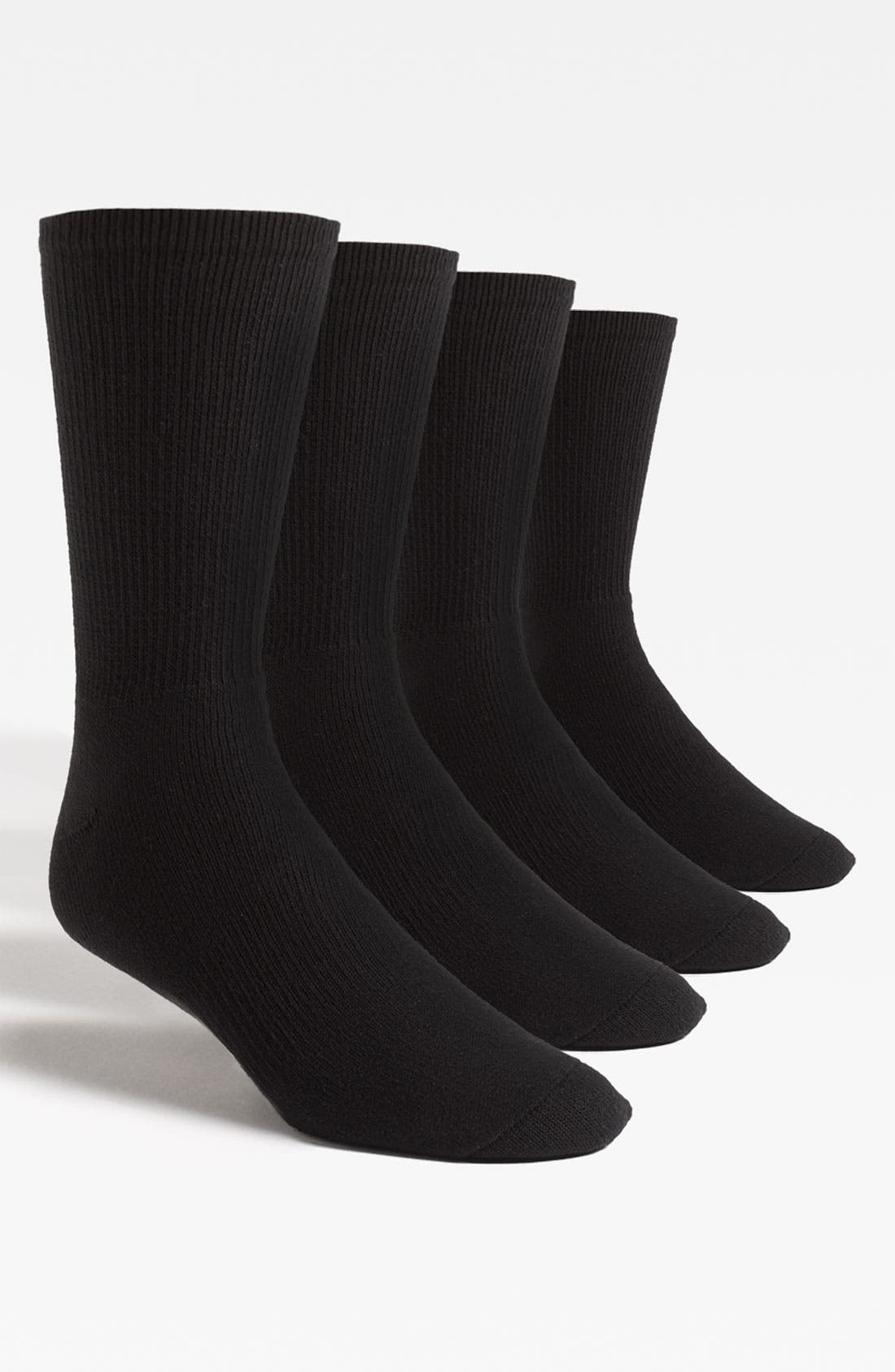 Alternate Image 1 Selected - Nordstrom Men's Shop King Size Crew Socks (4-Pack)