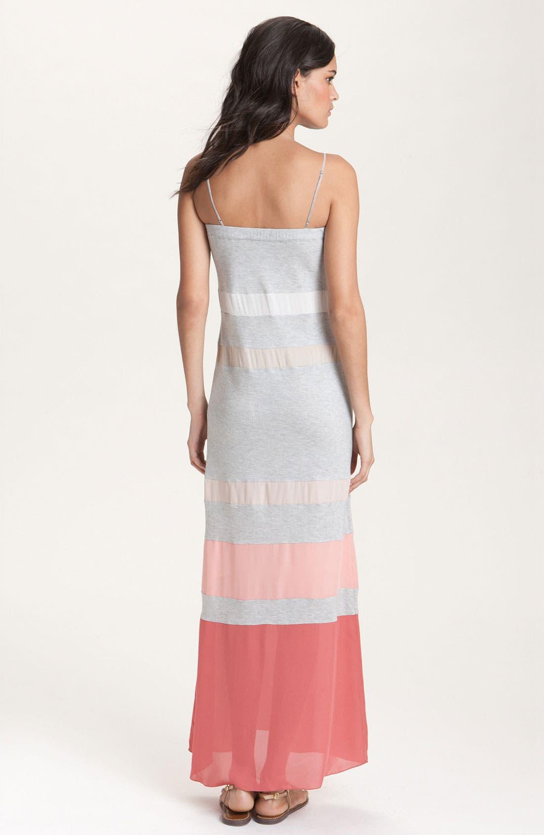 Alternate Image 2  - Haute Hippie Colorblock Stripe Maxi Dress