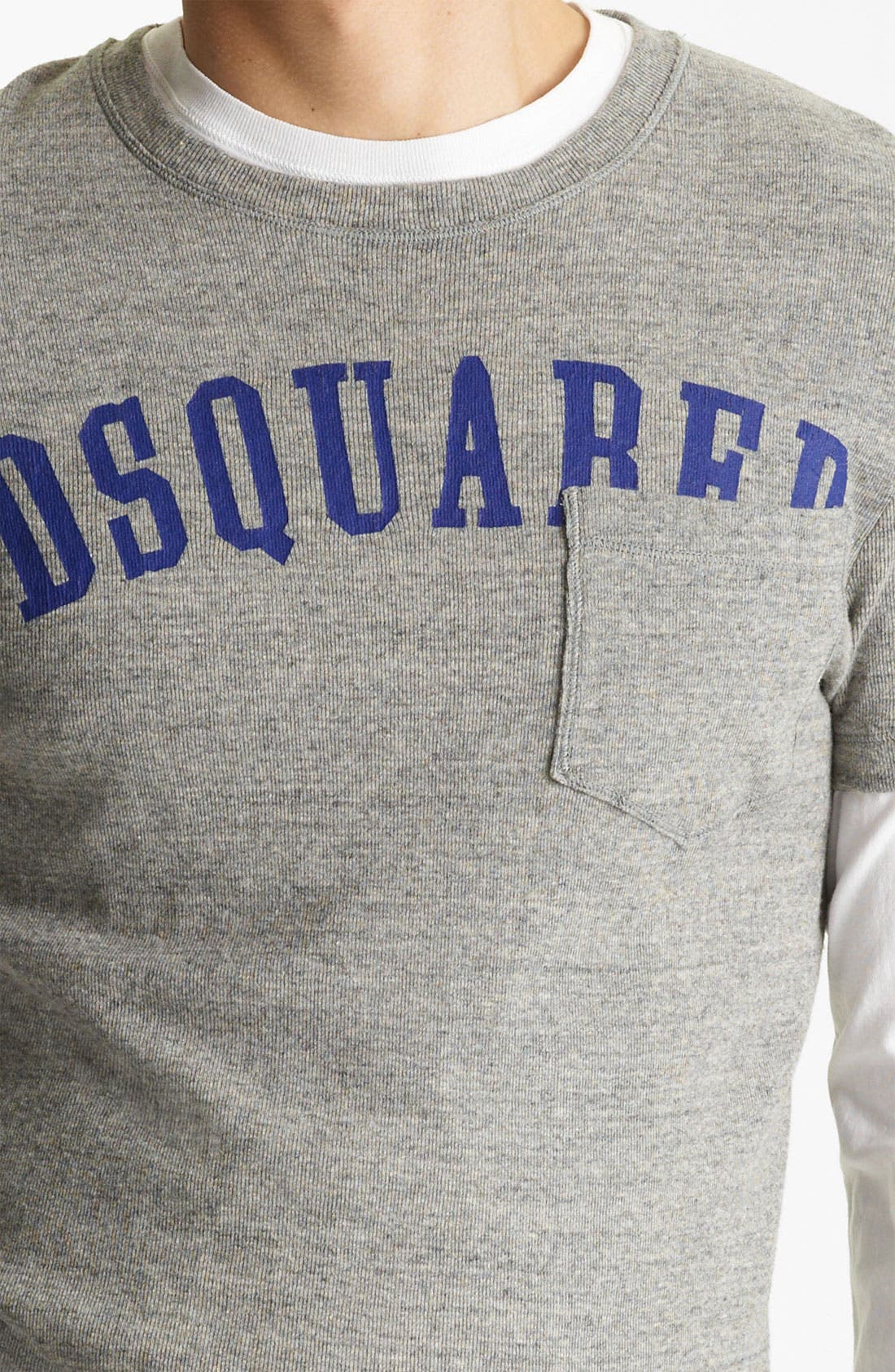 Alternate Image 3  - Dsquared2 Rib Knit Long Sleeve Two-Piece T-Shirt