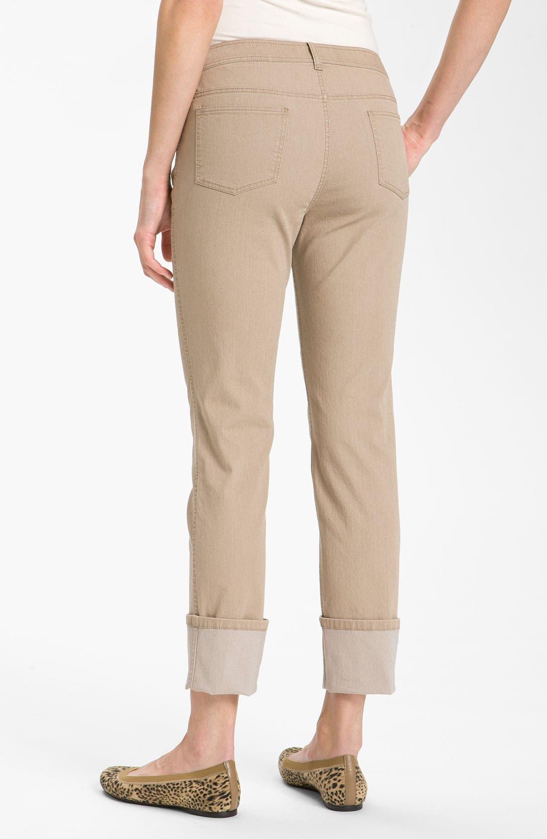 Alternate Image 2  - Lafayette 148 New York Cuff Crop Jeans