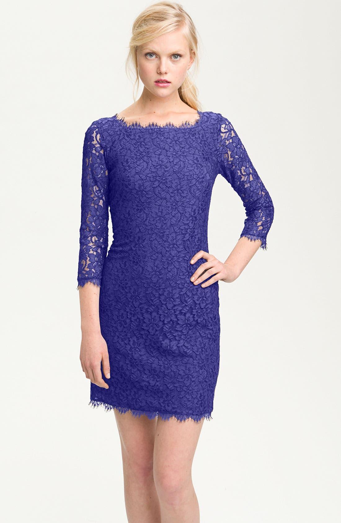Alternate Image 1 Selected - Diane von Furstenberg 'Zarita' Lace Sheath Dress