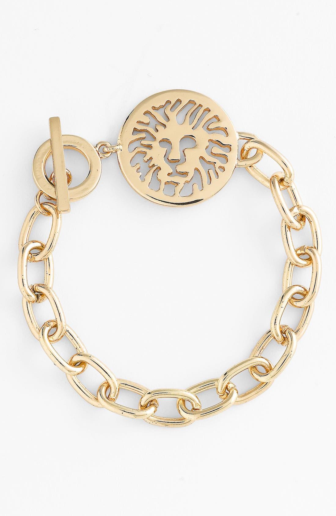Alternate Image 1 Selected - Anne Klein Lion Detail Toggle Bracelet