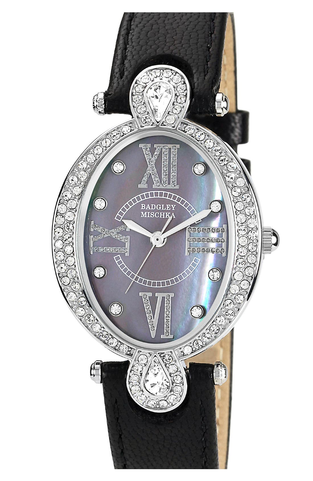 Alternate Image 1 Selected - Badgley Mischka Oval Case Watch