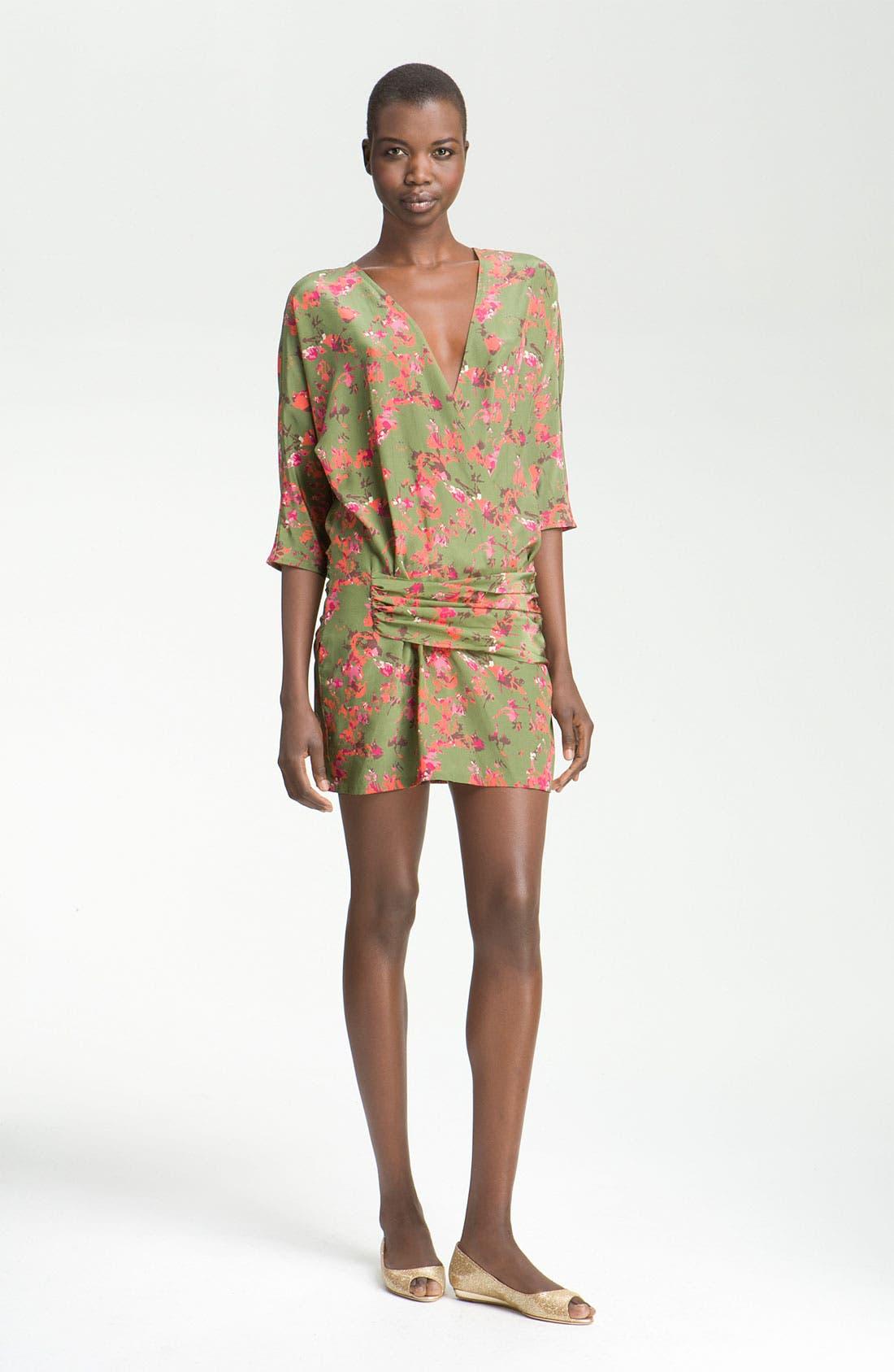 Main Image - Thakoon Addition Hip Detail Print Silk Dress