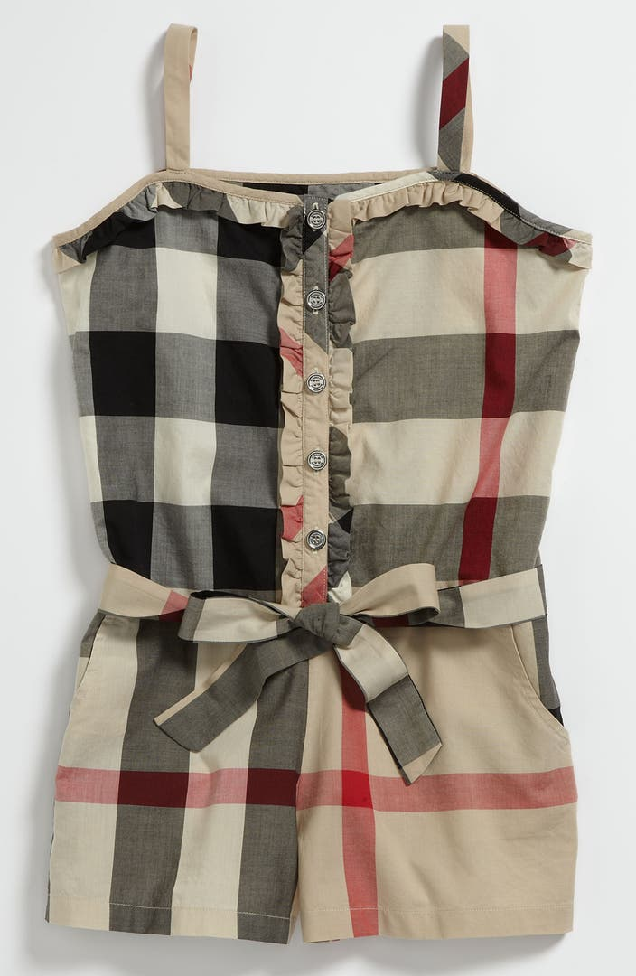 Burberry Check Print Romper Toddler Nordstrom