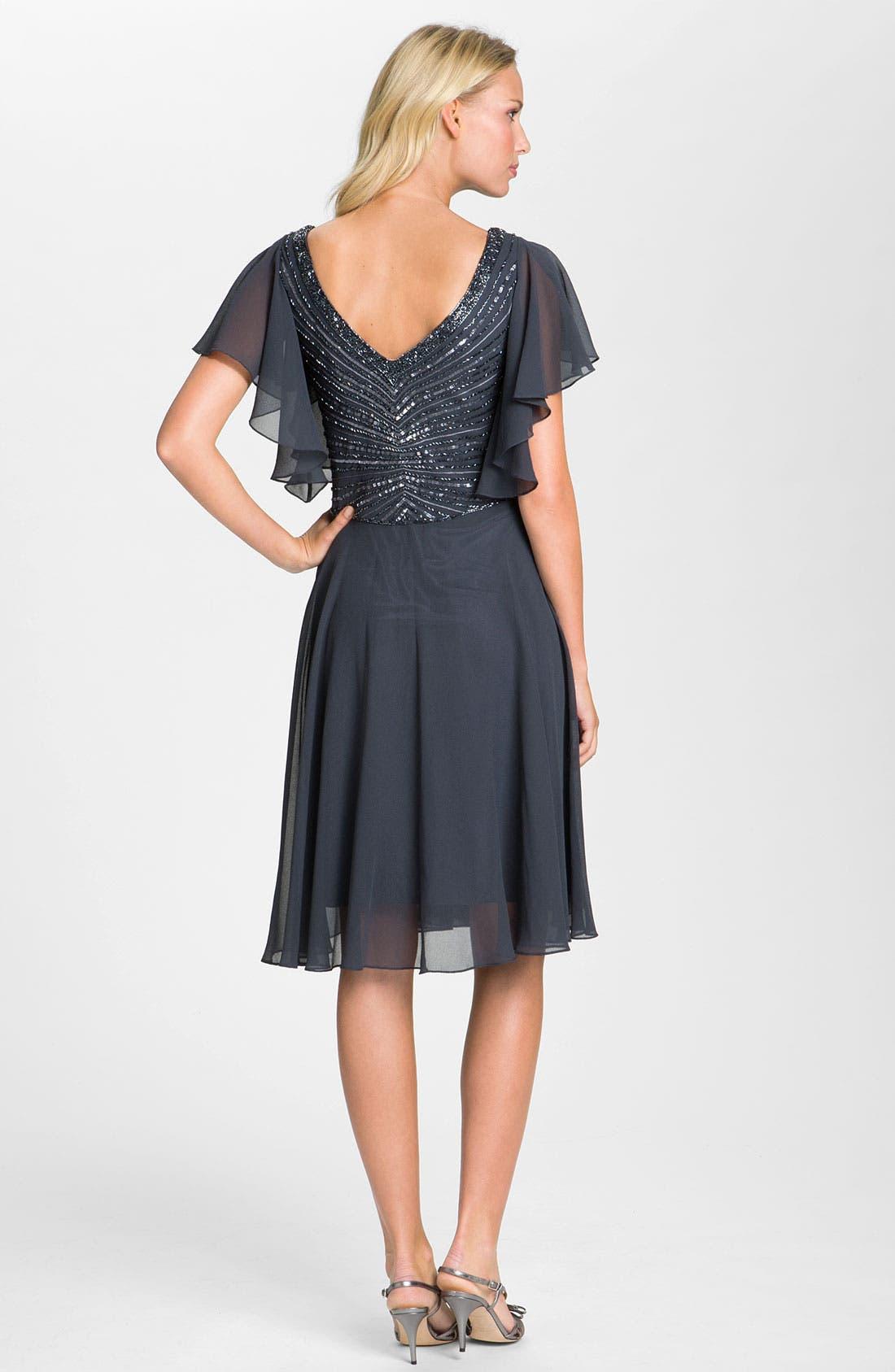 Alternate Image 2  - J Kara V-Neck Sequin Bodice Dress