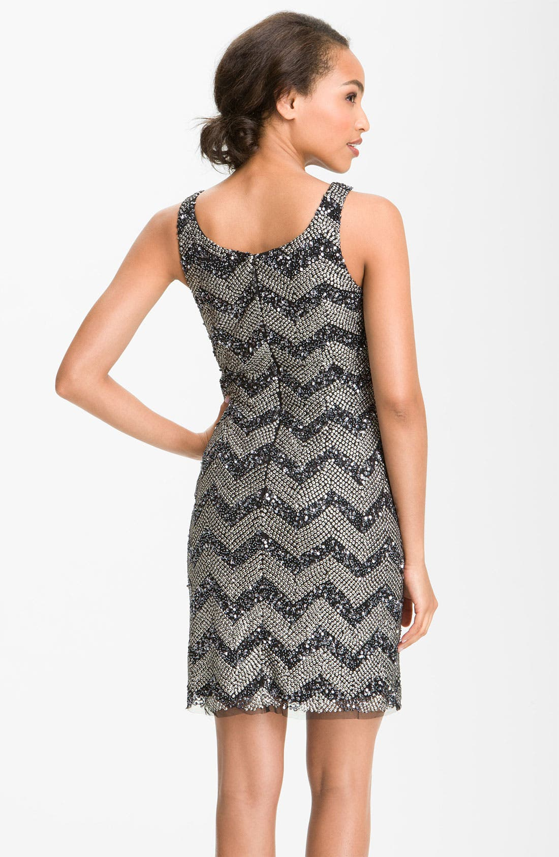 Alternate Image 2  - Guilia Sequin Chevron Shift Dress