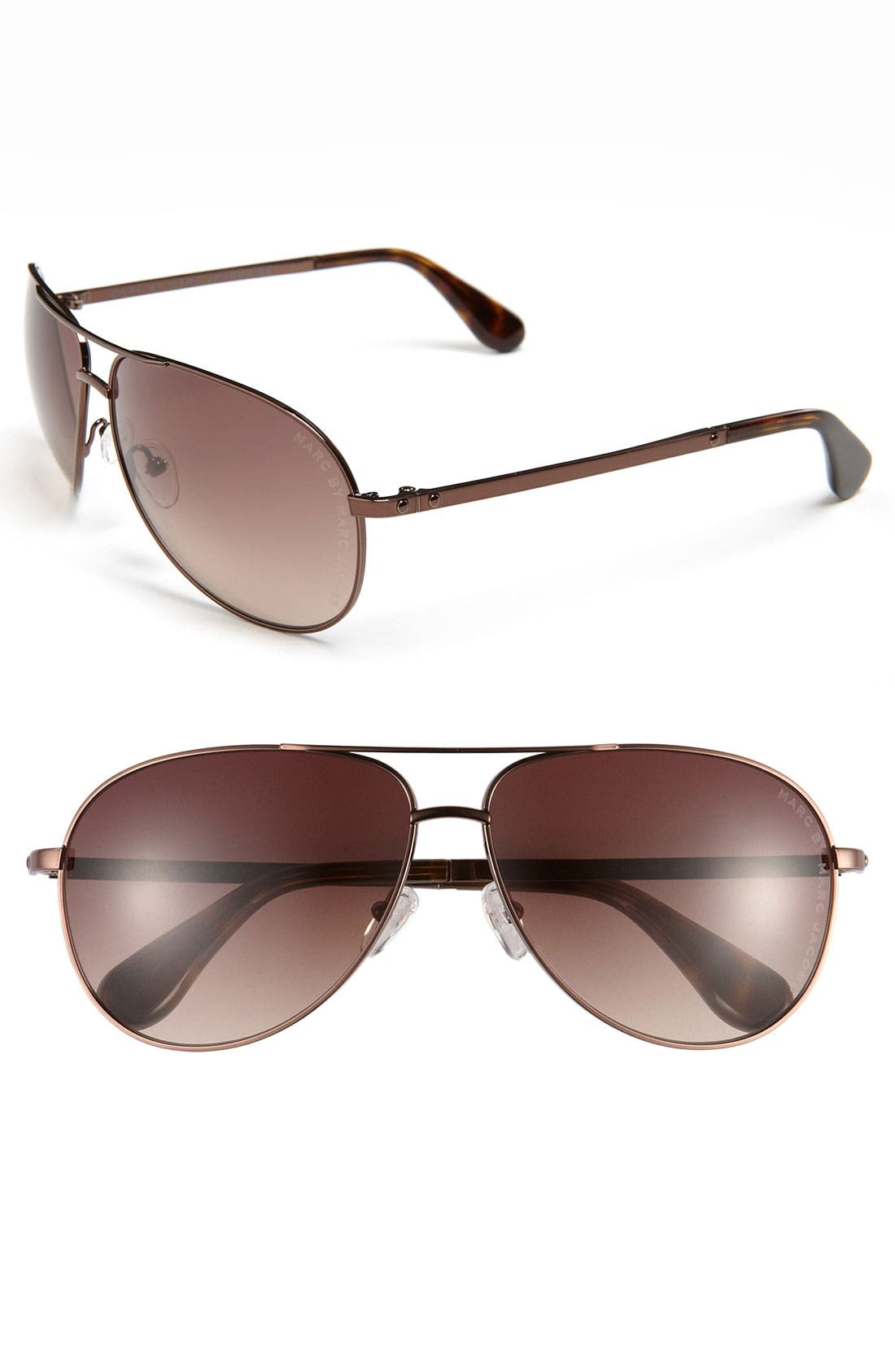 Alternate Image 1 Selected - MARC BY MARC JACOBS 62mm Aviator Sunglasses