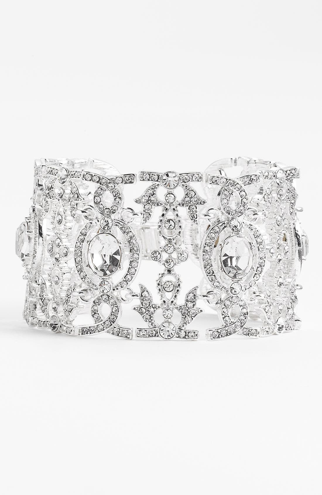 Alternate Image 1 Selected - Nina 'Angelica' Wide Crystal Line Bracelet