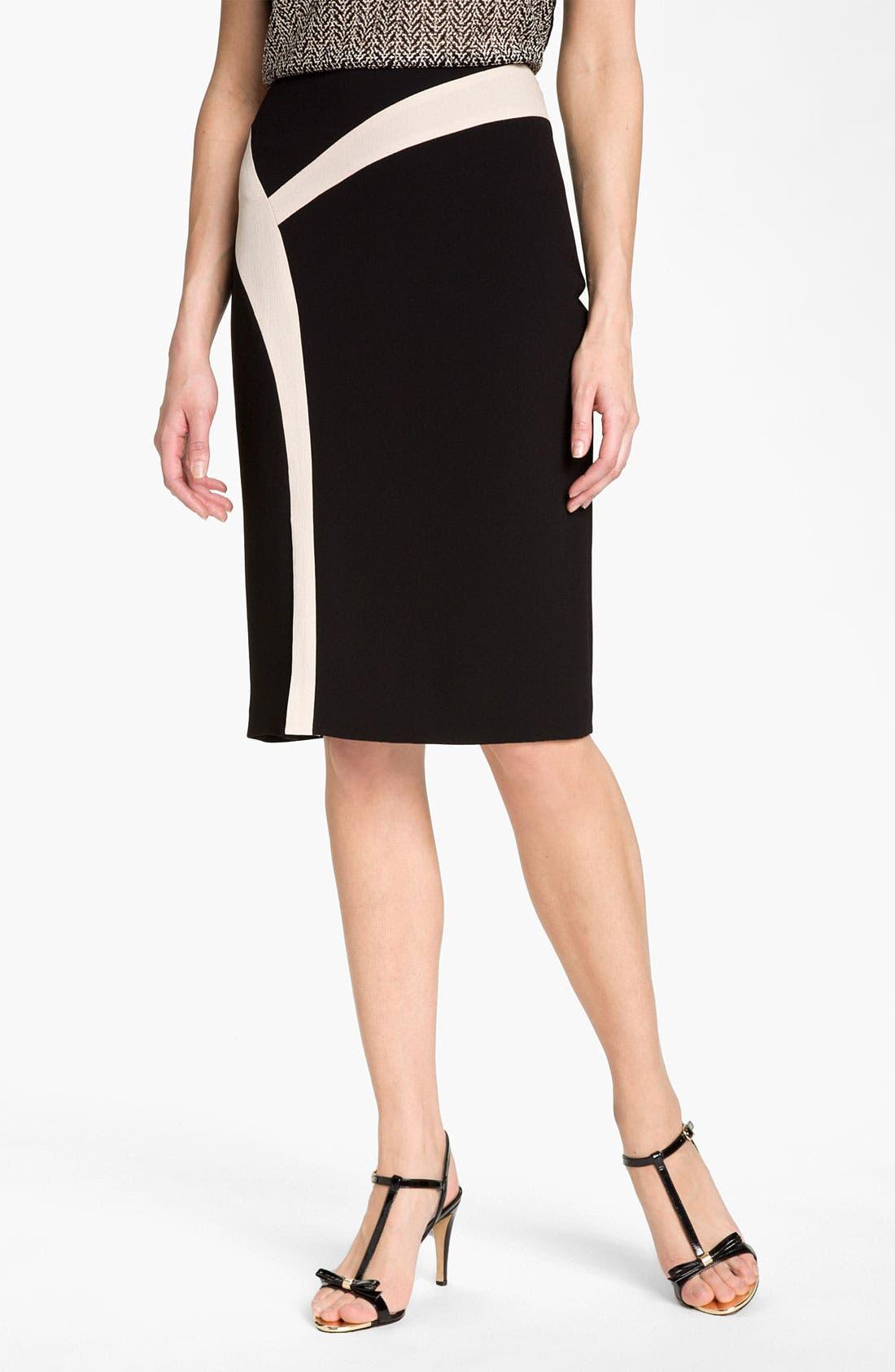 Main Image - Rachel Roy Abstract Colorblock Skirt