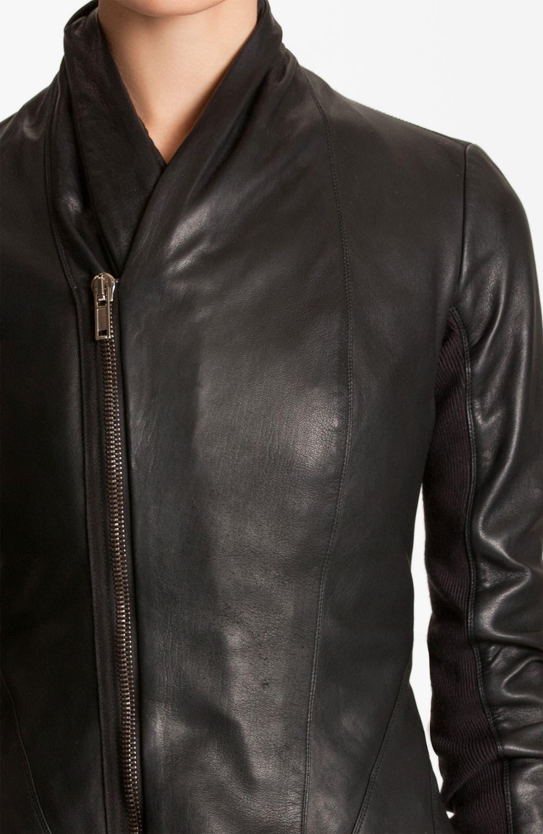Alternate Image 3  - Rick Owens Seamed Leather Jacket