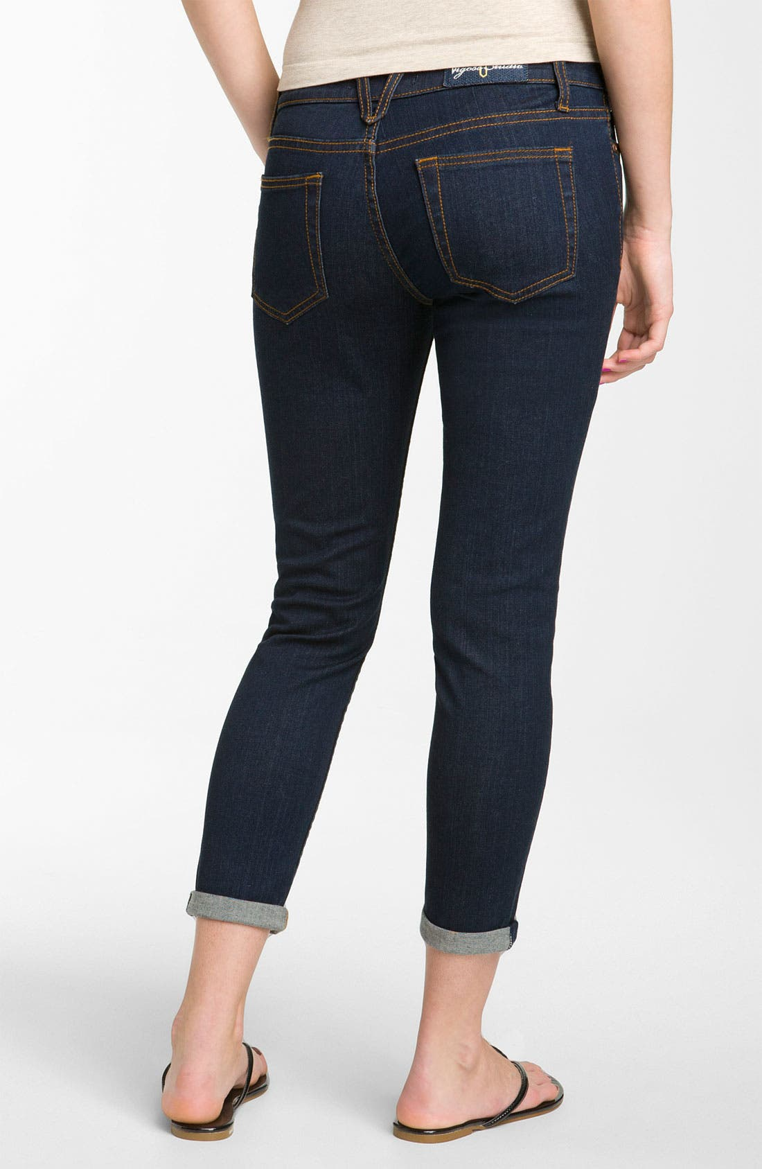 Alternate Image 1 Selected - Vigoss Skinny Crop Jeans (Rinse Wash) (Juniors)