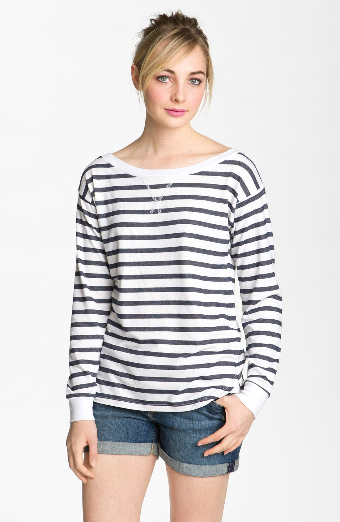 Alternate Image 1 Selected - AG Jeans Nautical Stripe Top