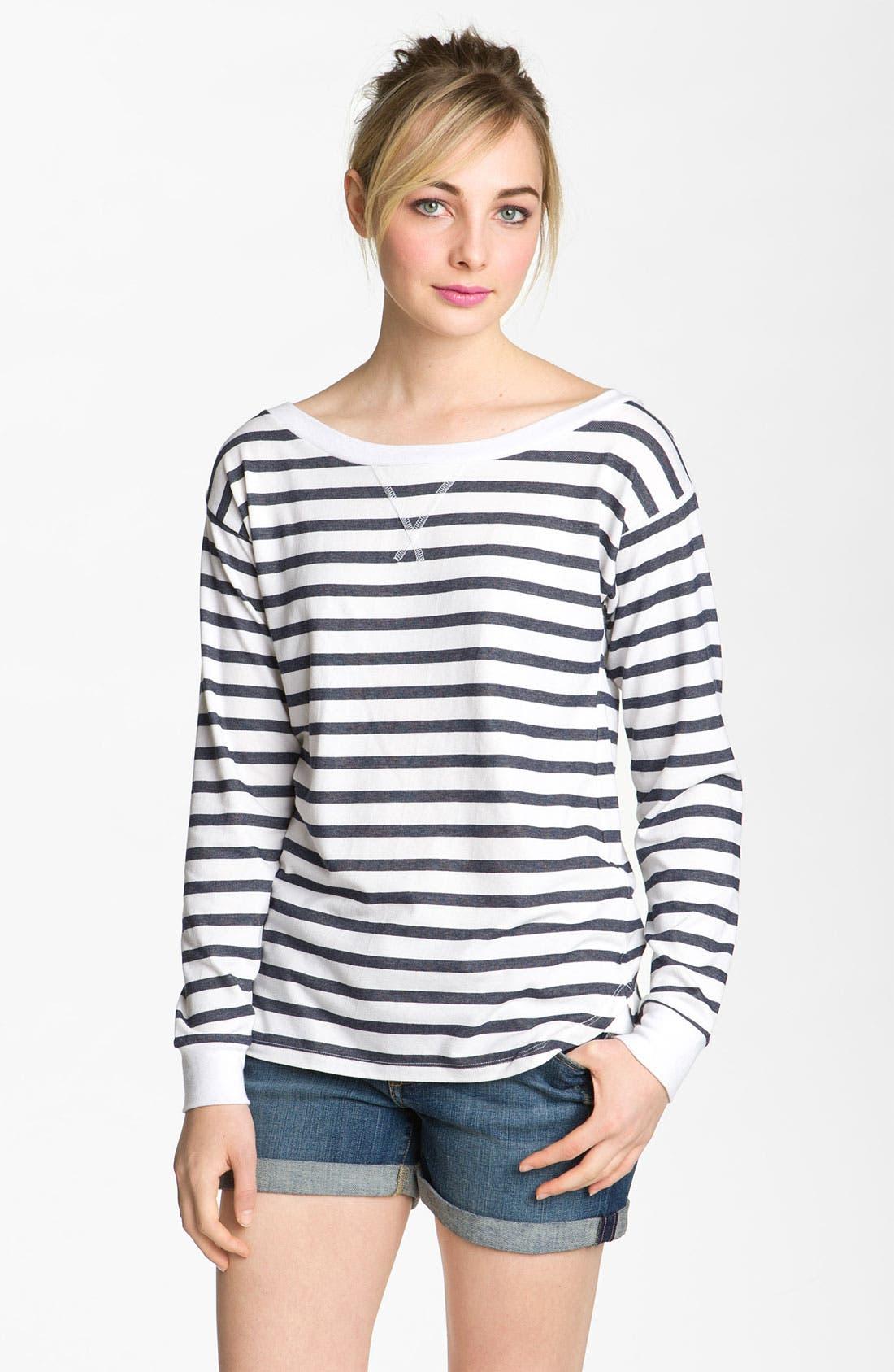 Main Image - AG Jeans Nautical Stripe Top