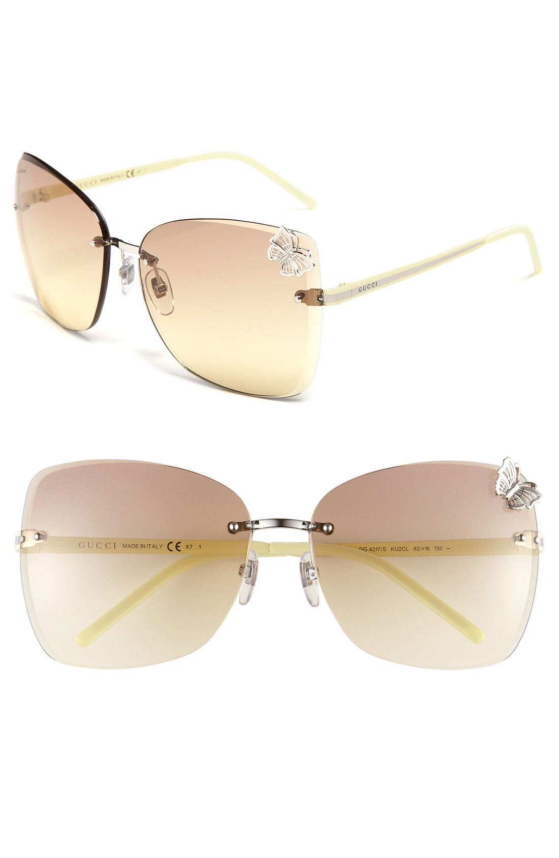 Alternate Image 1 Selected - Gucci Rimless Sunglasses