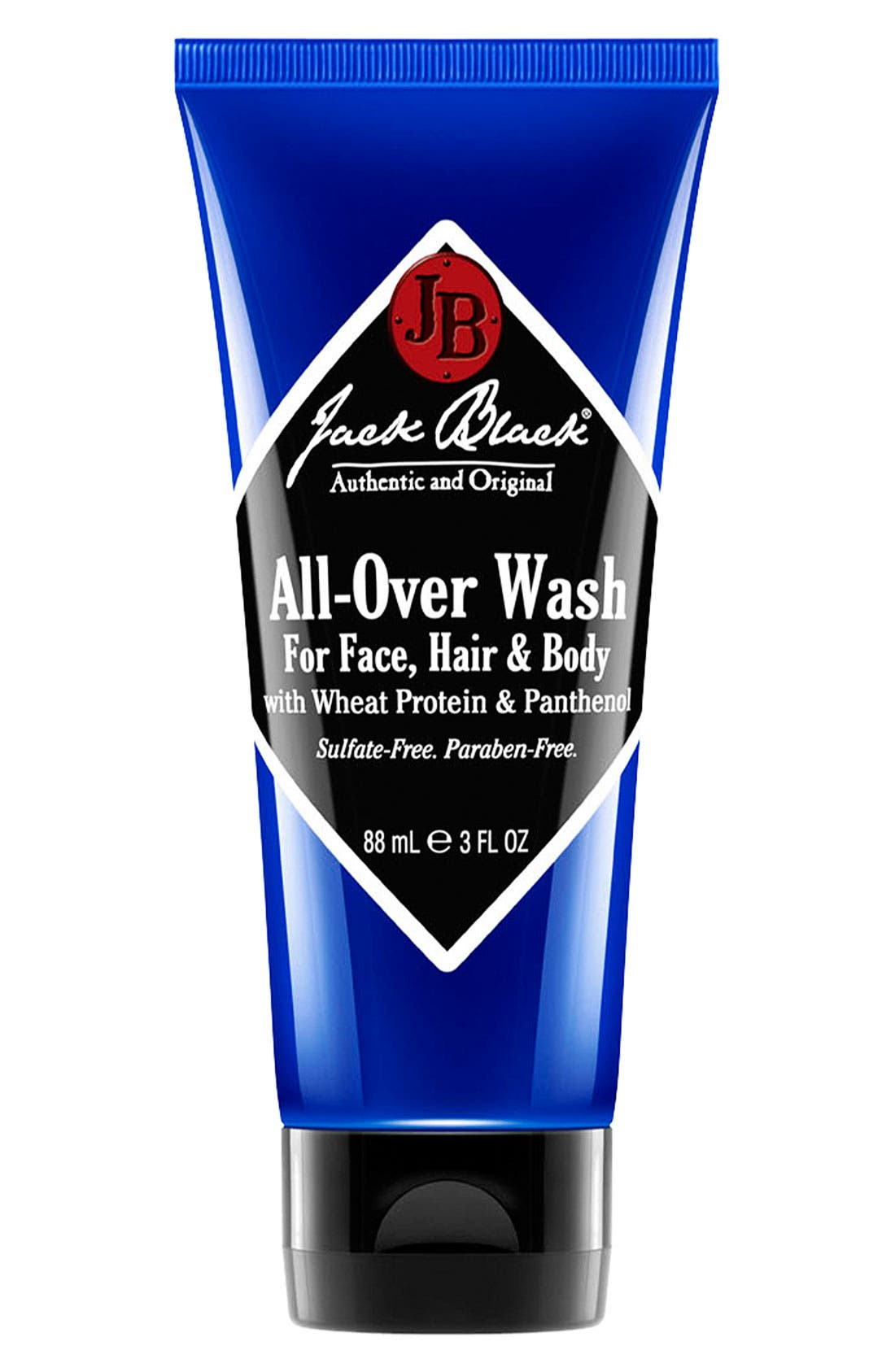Jack Black All-Over Wash for Face, Hair & Body (Travel Size)
