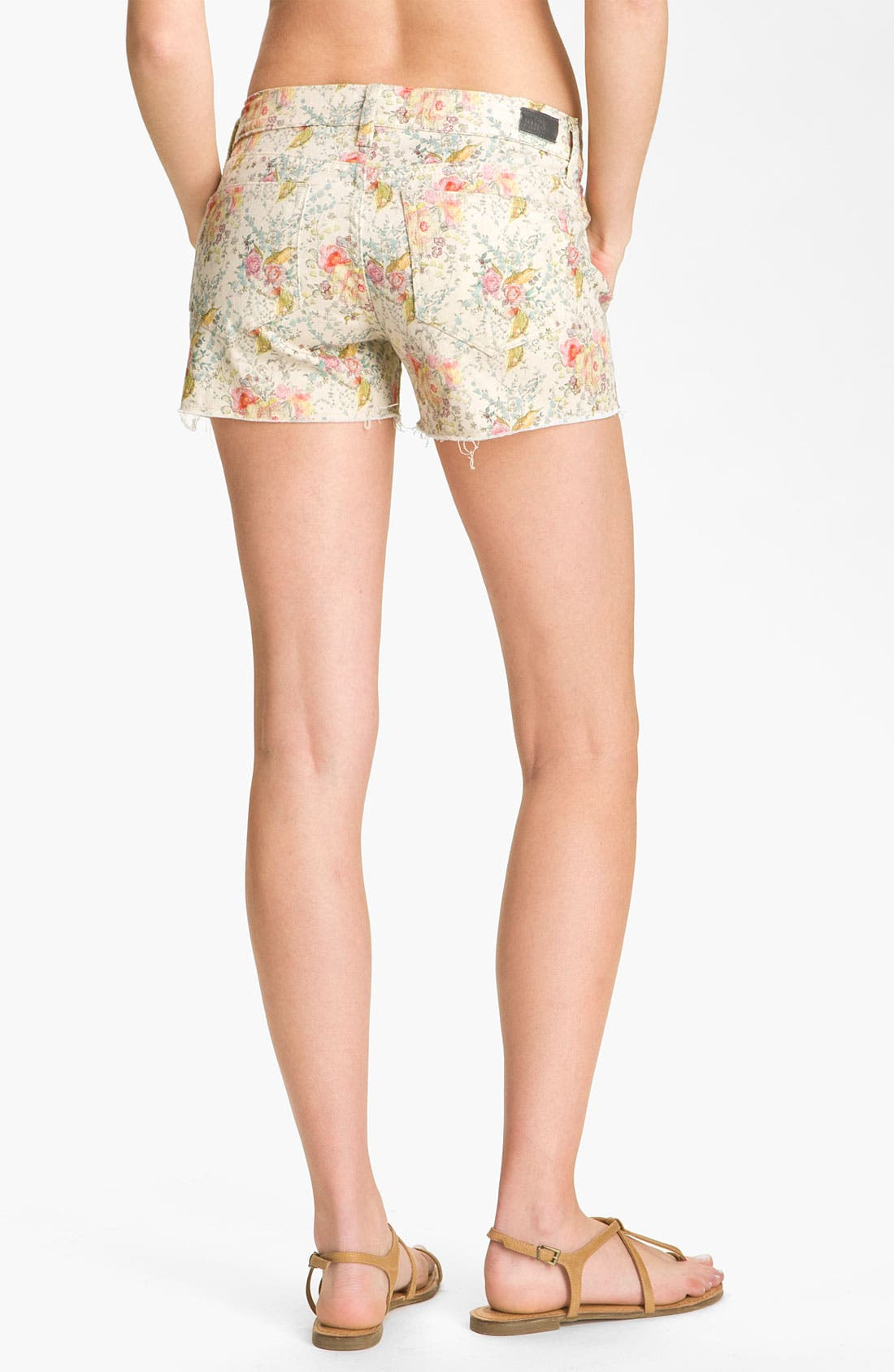 Alternate Image 1 Selected - Paige Denim 'Silver Lake' Cutoff Print Denim Shorts (Keighley)