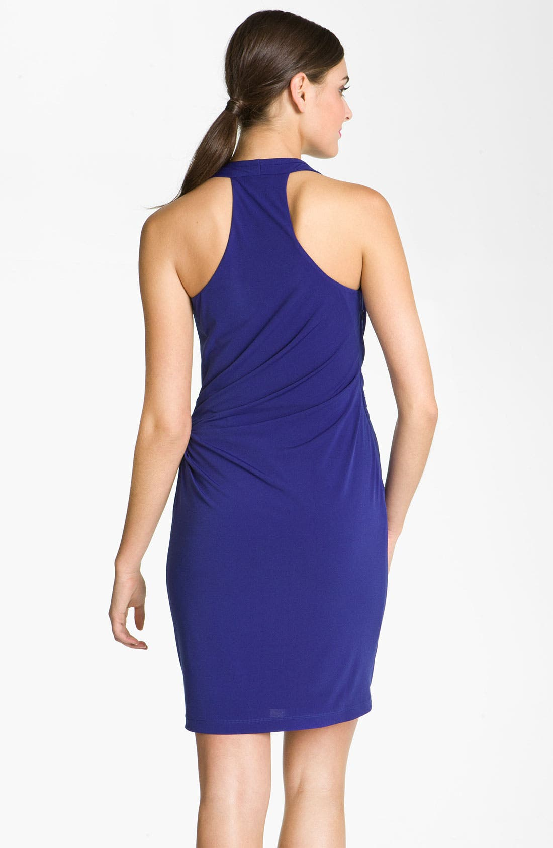 Alternate Image 2  - Suzi Chin for Maggy Boutique Ruched Racer Back Jersey Dress