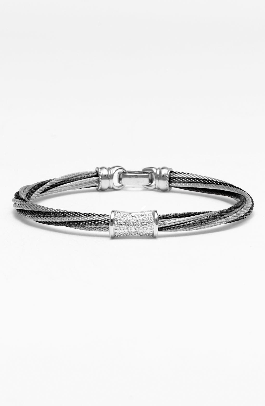 Alternate Image 1 Selected - ALOR® 'Mixed Modern' Diamond Station Cable Bracelet