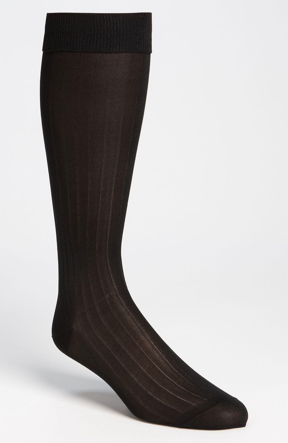Alternate Image 1 Selected - Pantherella Silk Ribbed Formal Socks (Online Only)