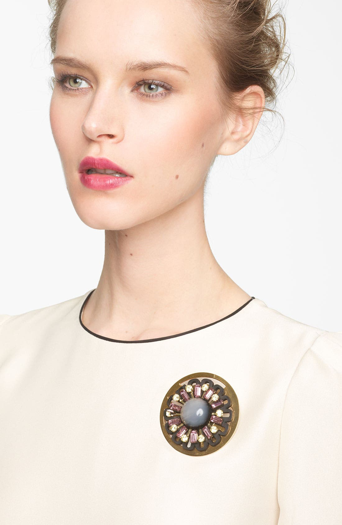 Alternate Image 1 Selected - Marni Gold Plate Disc Brooch