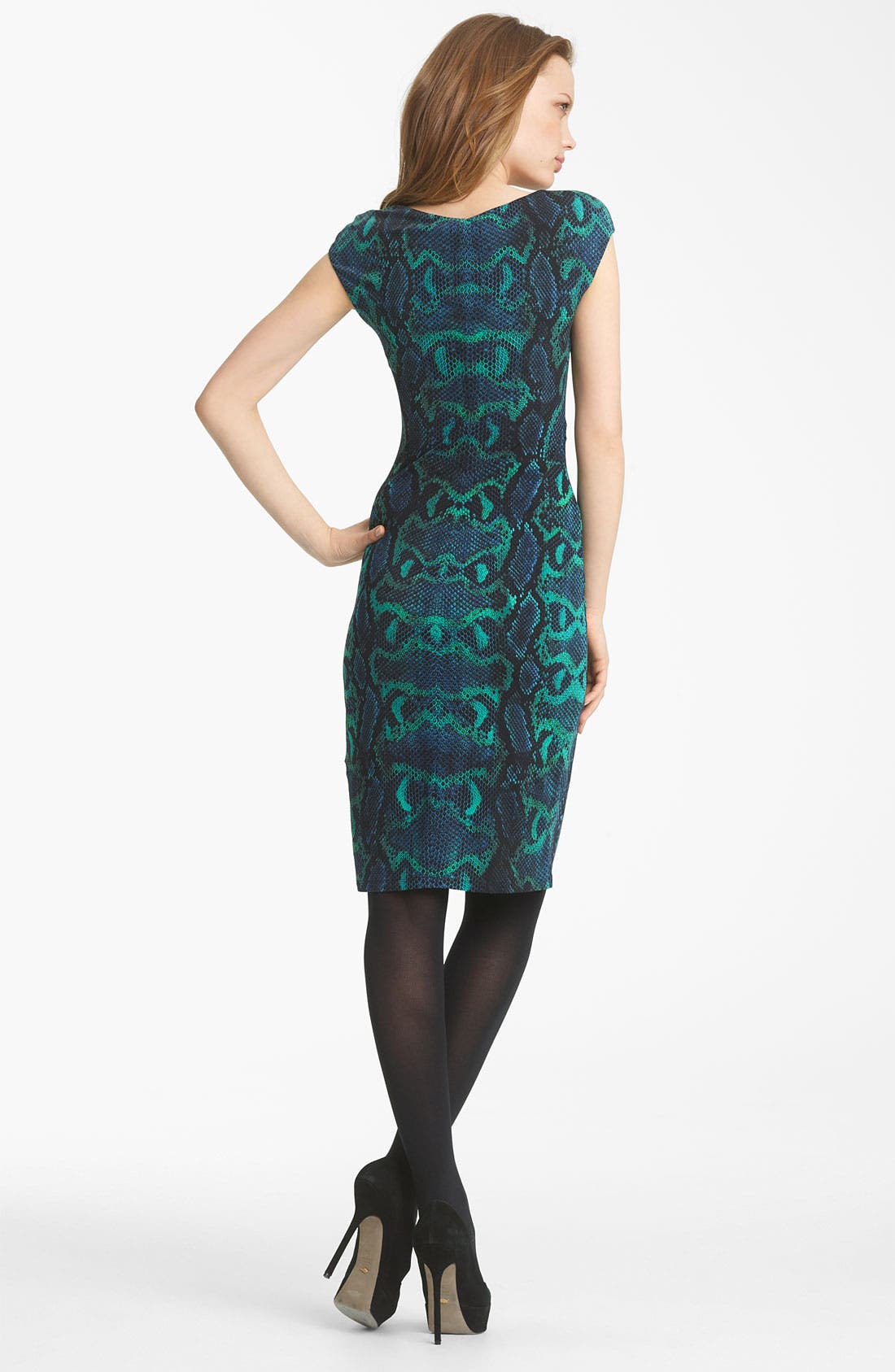 Alternate Image 2  - Roberto Cavalli Python Print Jersey Dress