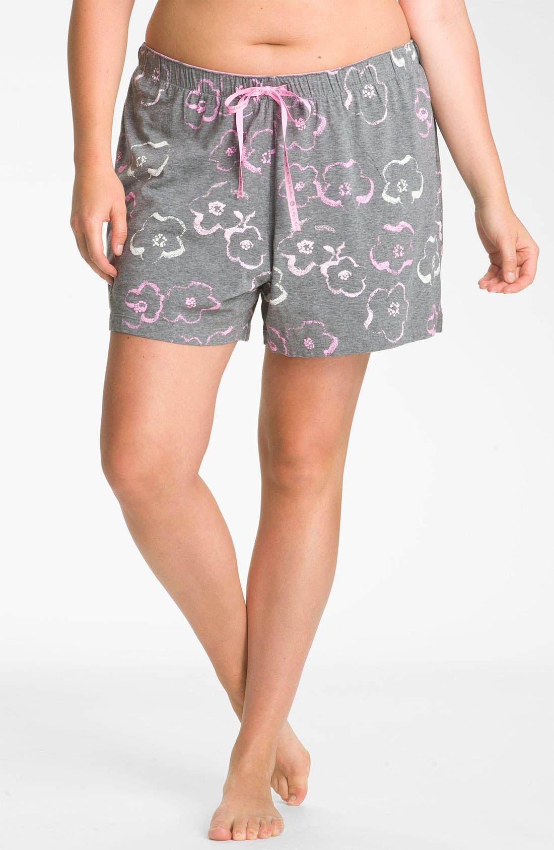 Main Image - Hue 'Floral Wash' Boxer Shorts (Plus)