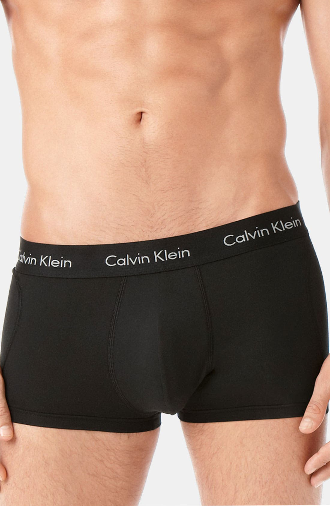 Alternate Image 2  - Calvin Klein Microfiber Stretch Trunks (Assorted 2-Pack)(Online Exclusive)
