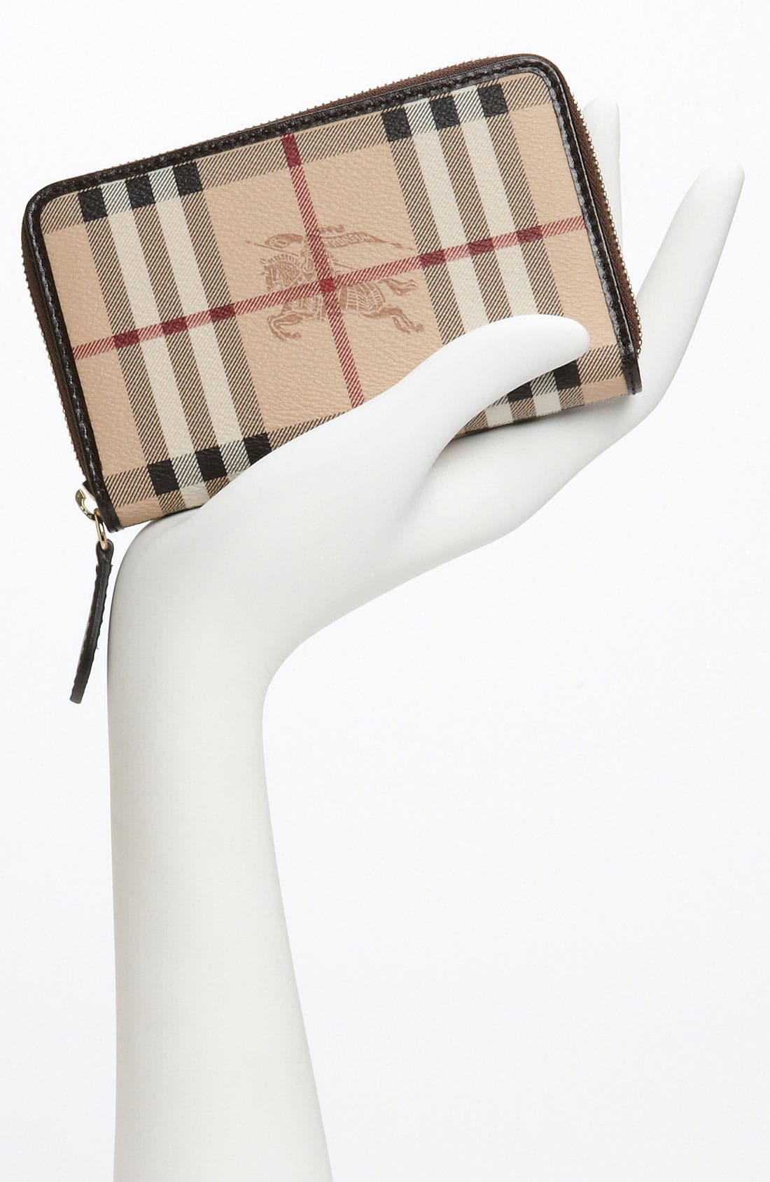 Alternate Image 2  - Burberry 'Haymarket Check' Compact Zip Around Wallet