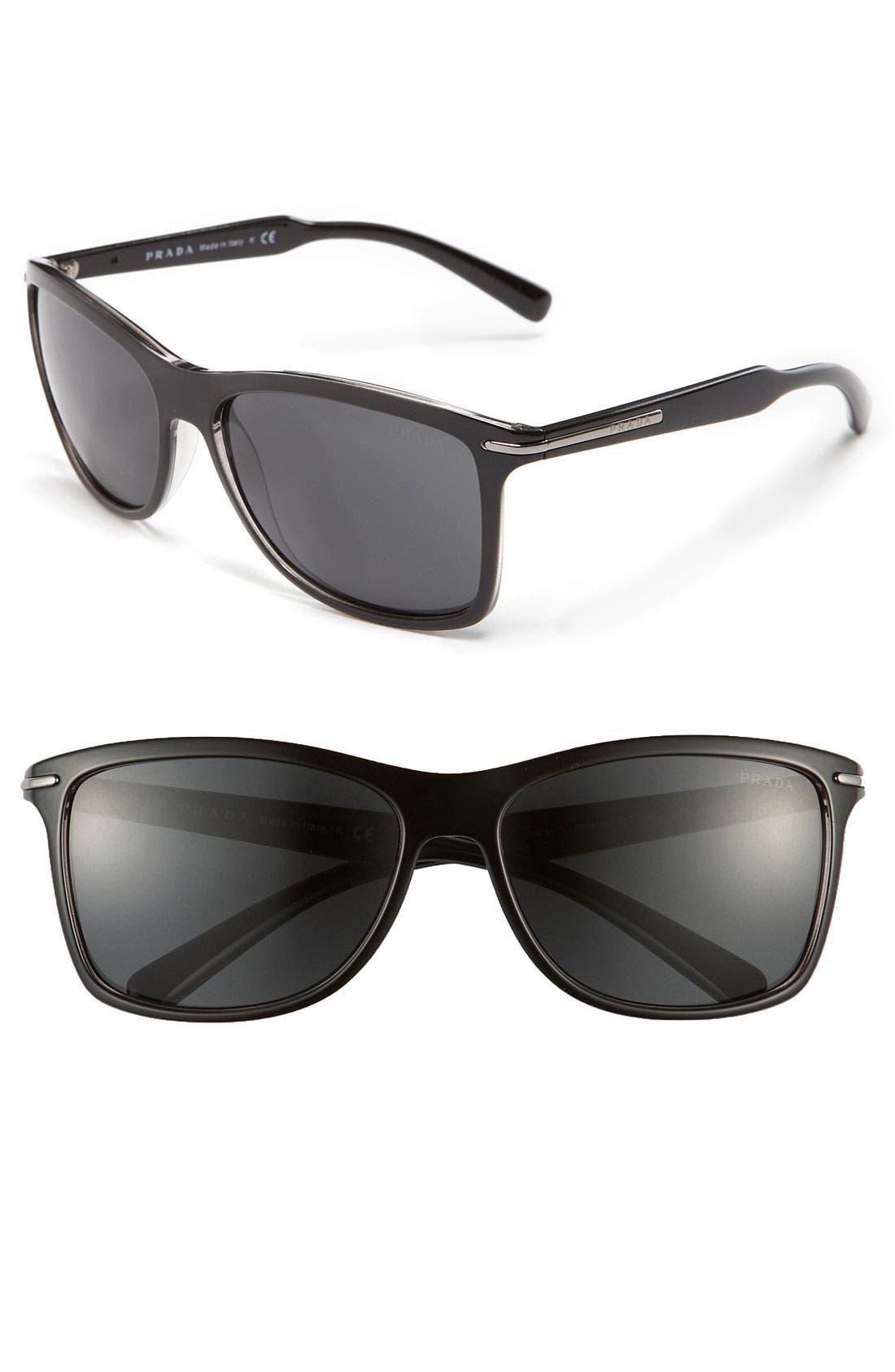 Alternate Image 1 Selected - Prada 'P-Arrow' Retro 60mm Sunglasses