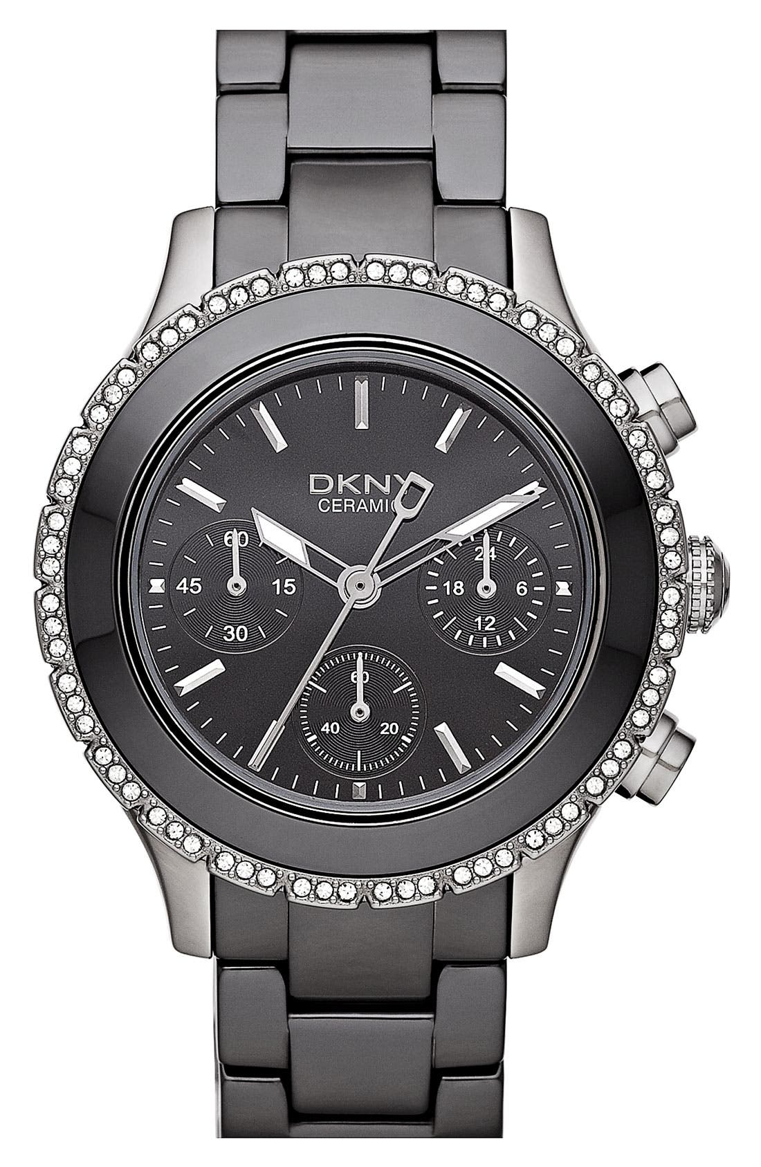 Main Image - DKNY 'Westside' Ceramic Bracelet Watch