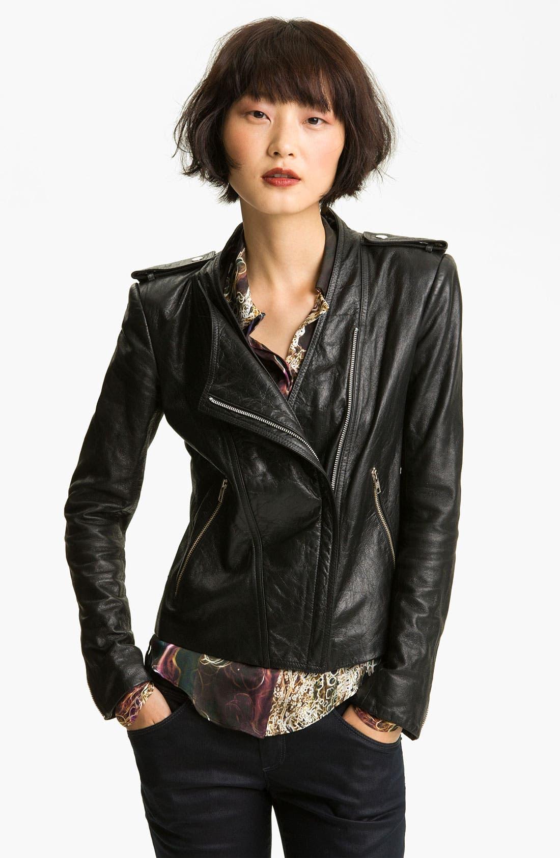 Main Image - Theyskens' Theory Leather Moto Jacket