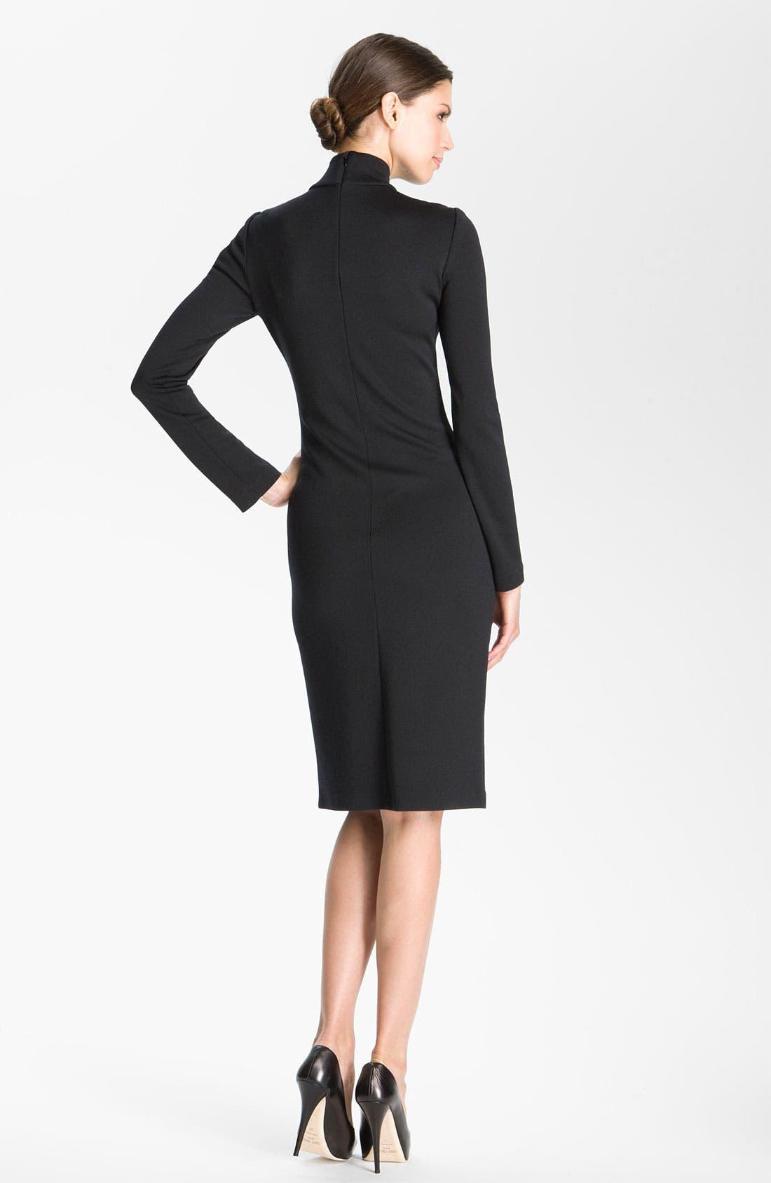 Alternate Image 2  - St. John Collection Milano Knit Turtleneck Dress