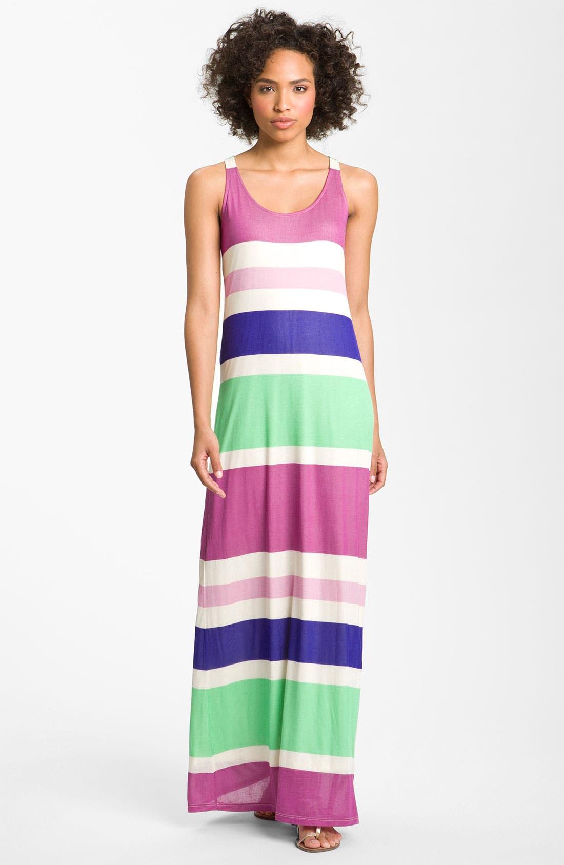 Main Image - Splendid Racerback Stripe Maxi Dress