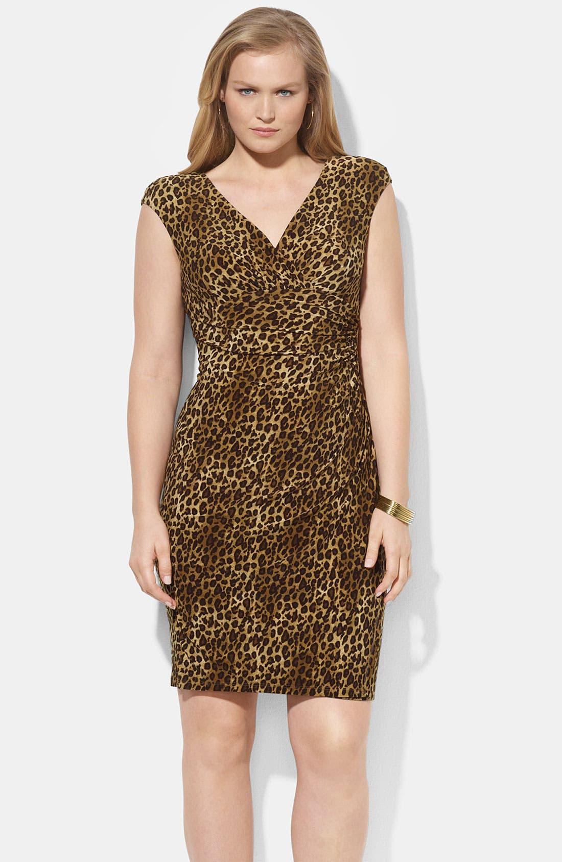 Alternate Image 1 Selected - Lauren Ralph Lauren Print Dress (Plus)