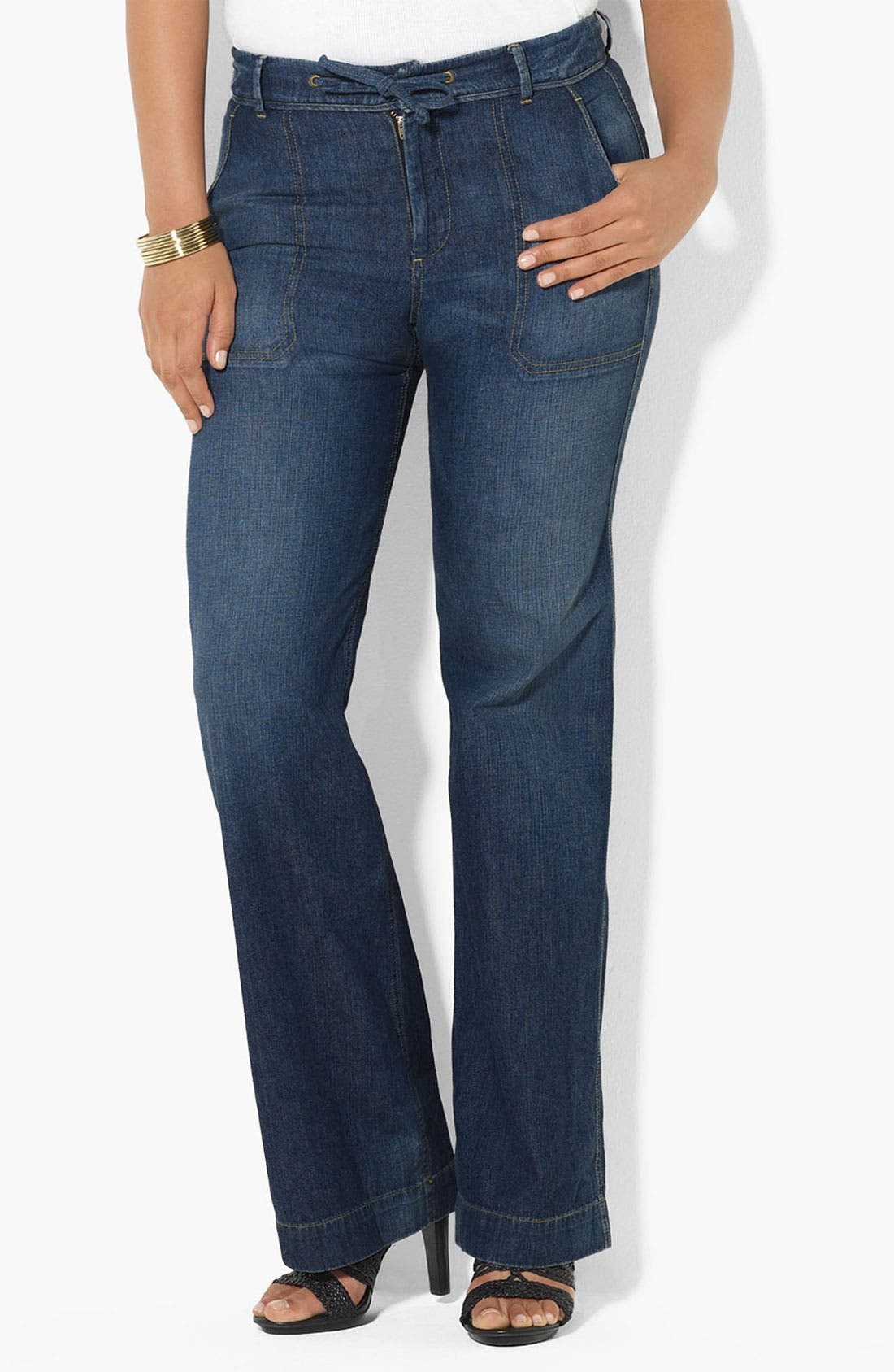 Alternate Image 2  - Lauren Ralph Lauren Drawstring Waist Jeans (Plus)