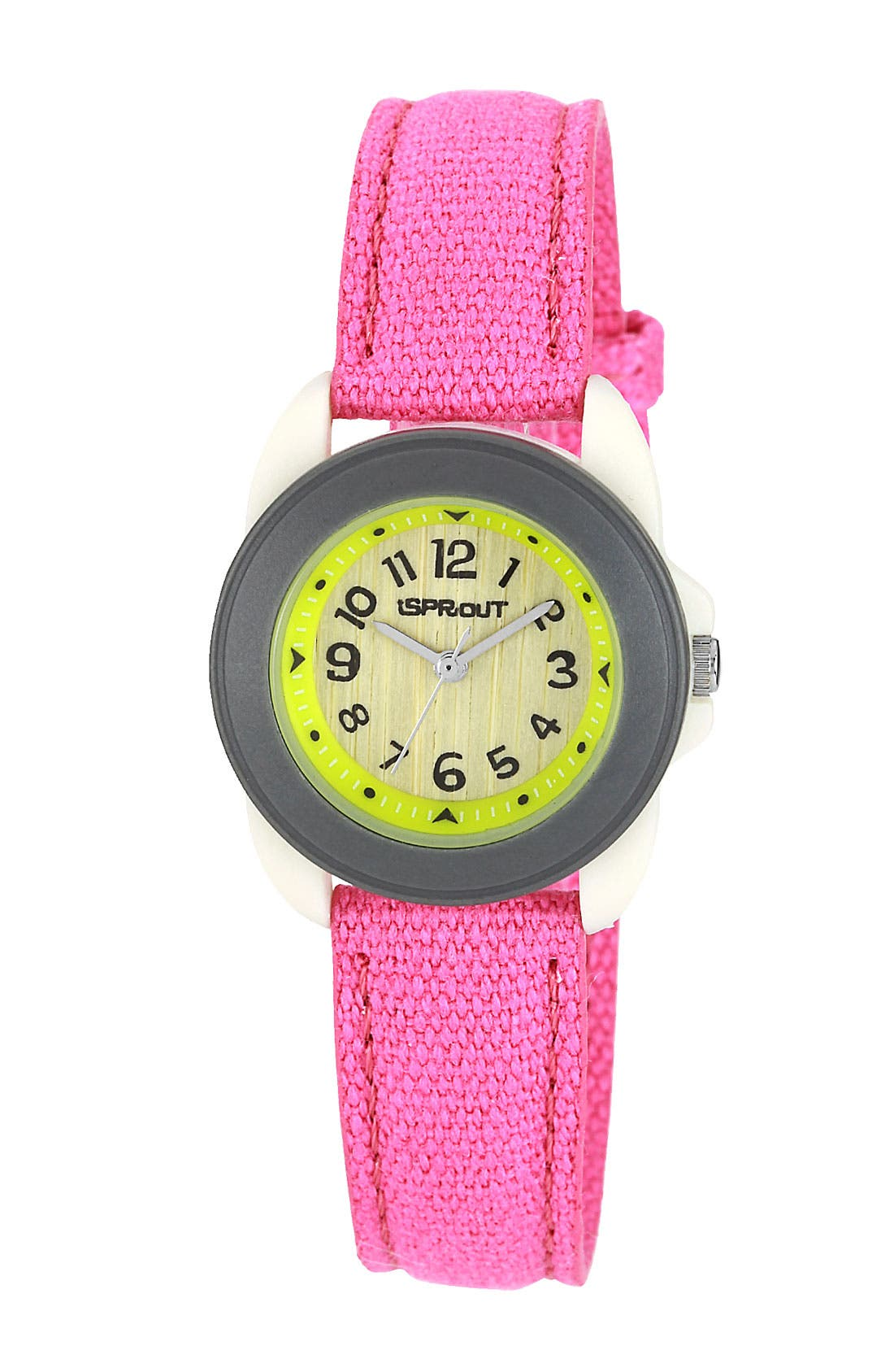 Main Image - SPROUT™ Watches Round Organic Cotton Strap Watch, 22mm