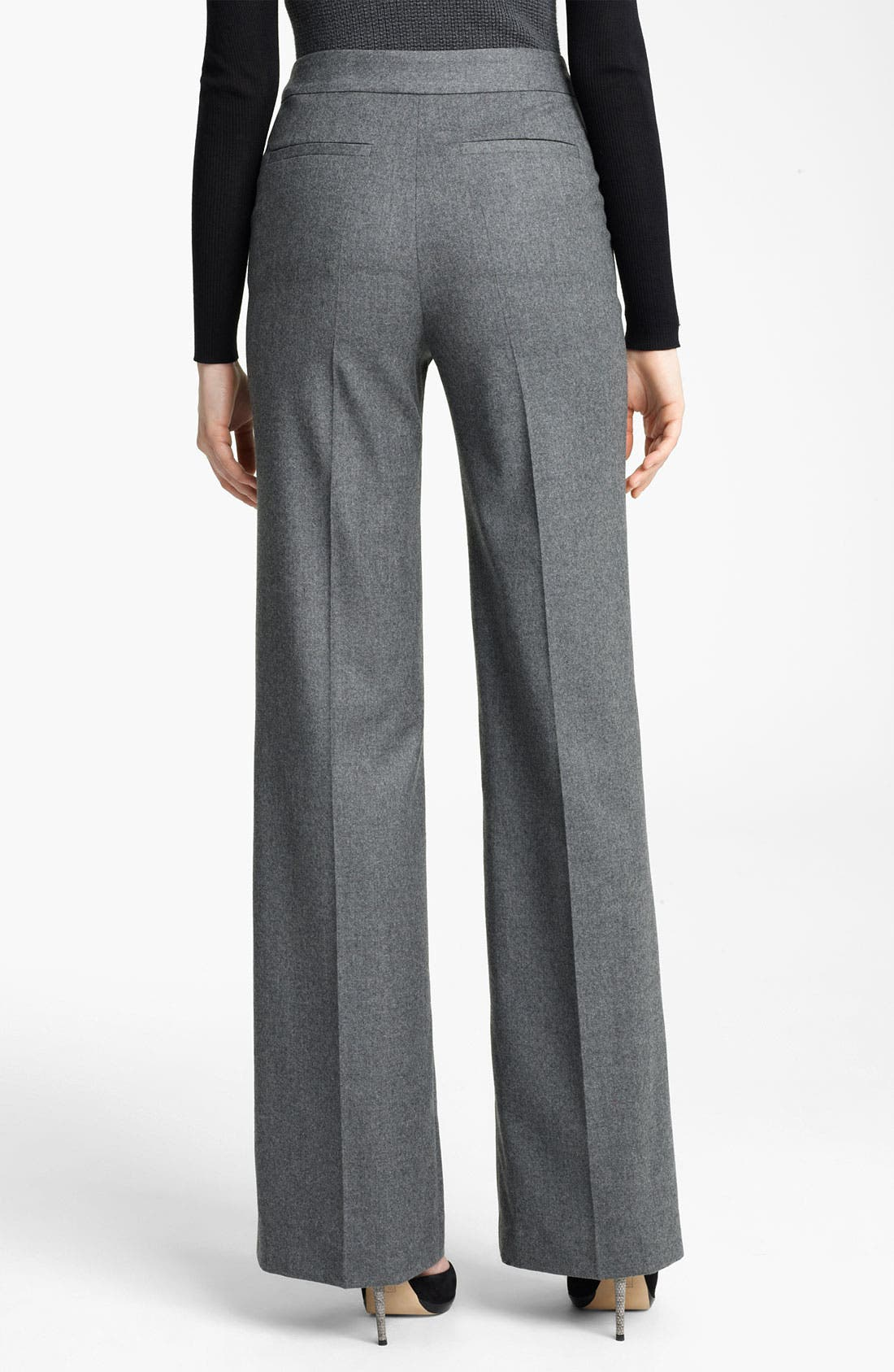 Alternate Image 2  - Reed Krakoff Wide Leg Stretch Flannel Pants