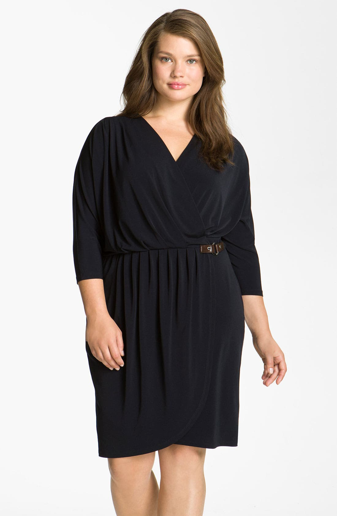 Alternate Image 1 Selected - MICHAEL Michael Kors Surplice Jersey Dress (Plus)
