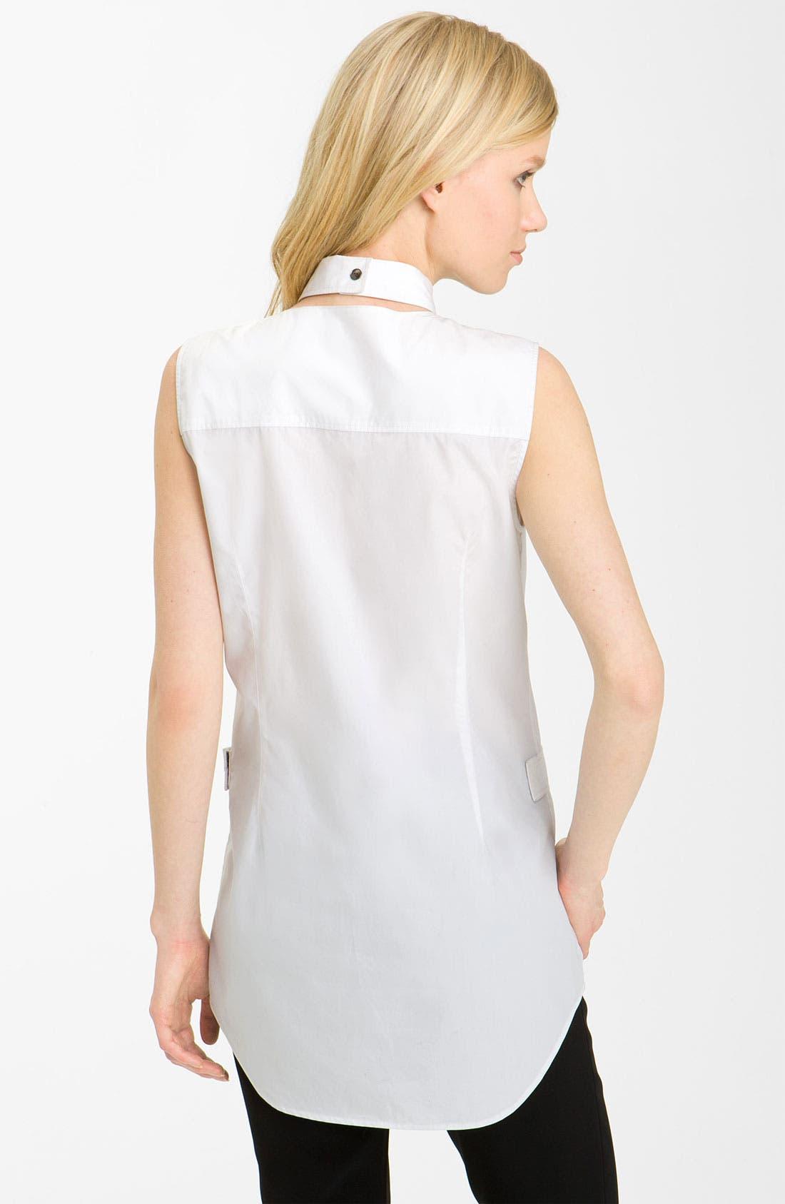 Alternate Image 2  - Alexander Wang Pleated Hem Poplin Shirt
