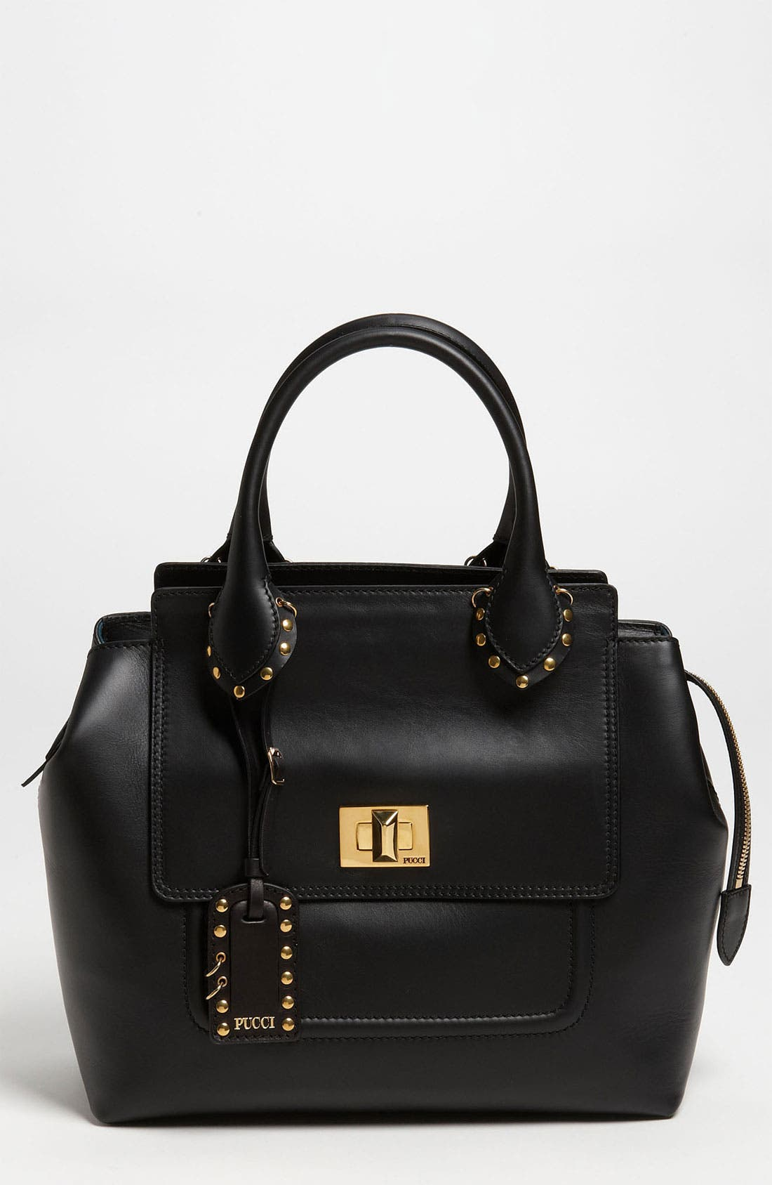 Alternate Image 1 Selected - Emilio Pucci Leather Satchel