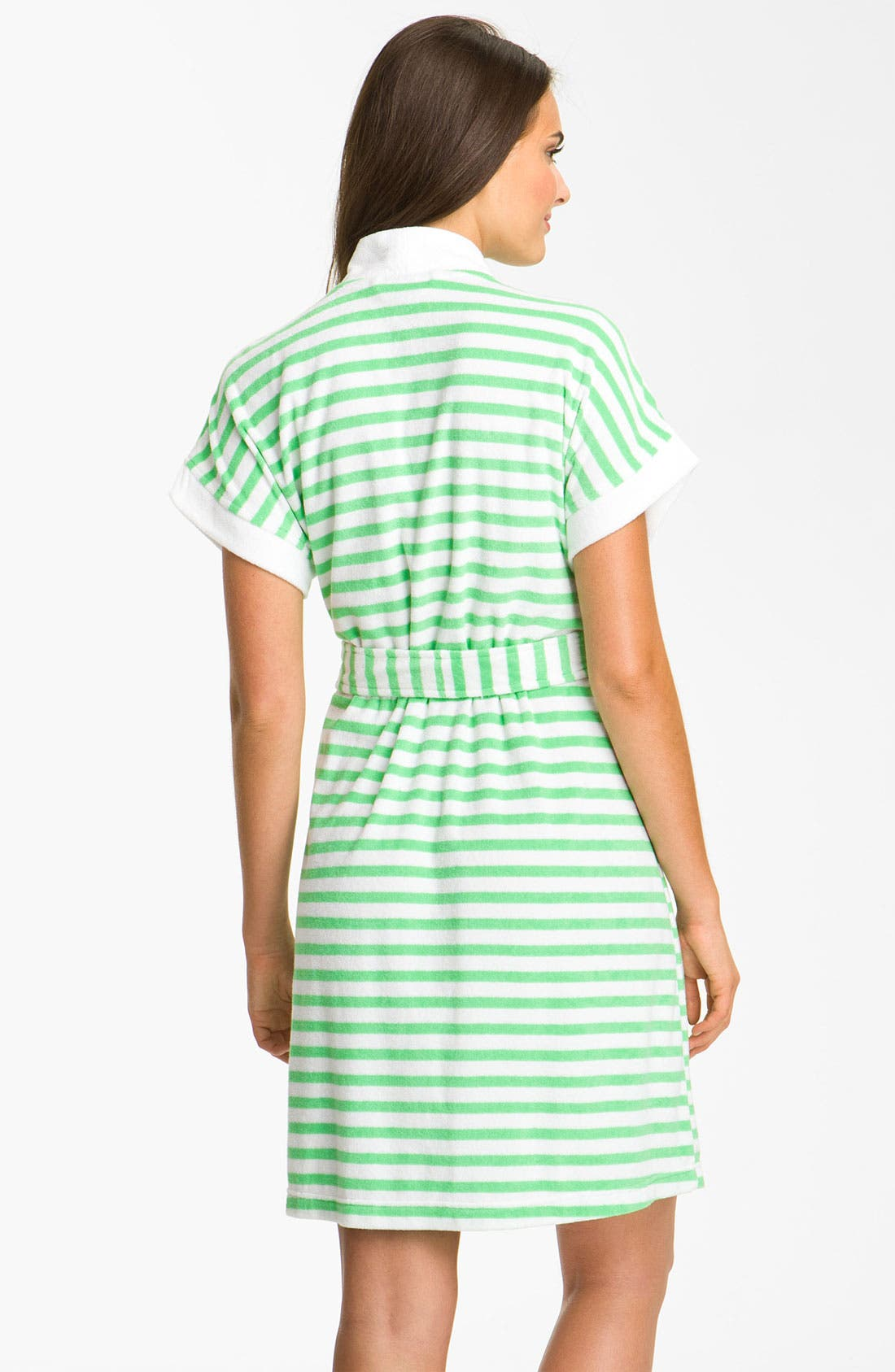 Alternate Image 2  - Lauren Ralph Lauren Sleepwear Stripe Spa Robe