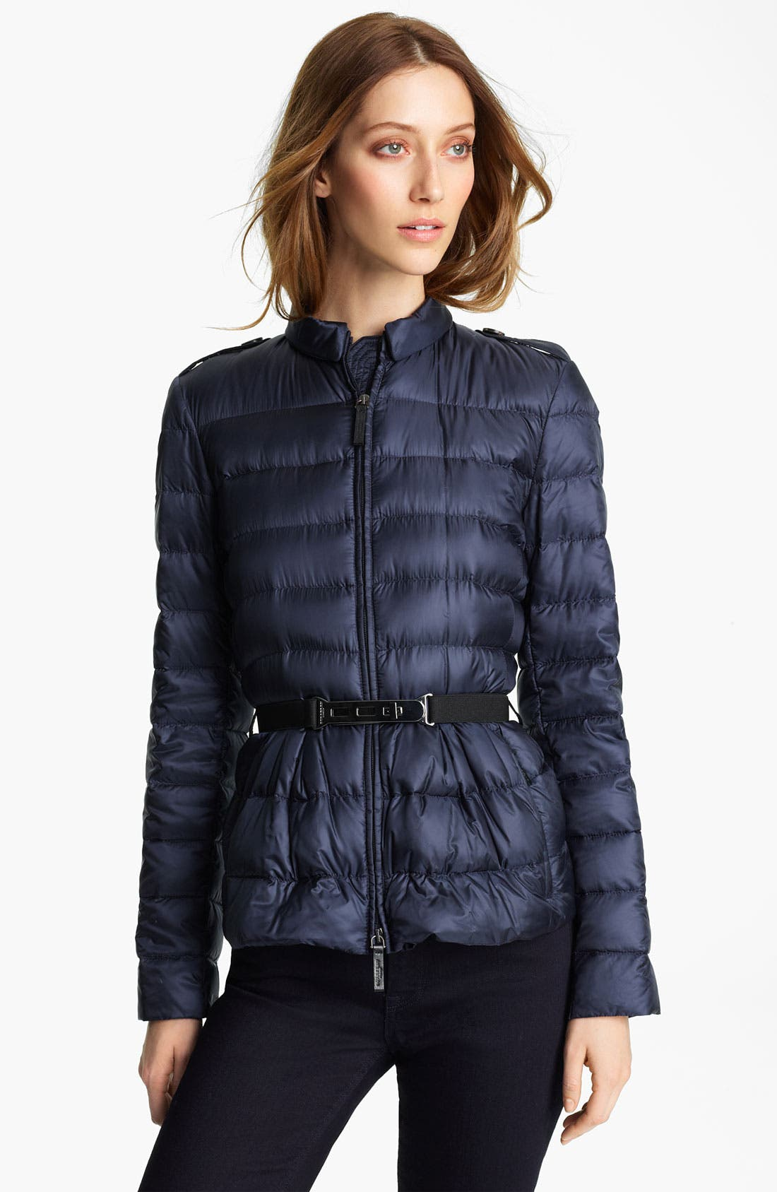 Alternate Image 1 Selected - Burberry London Belted Puffer Jacket